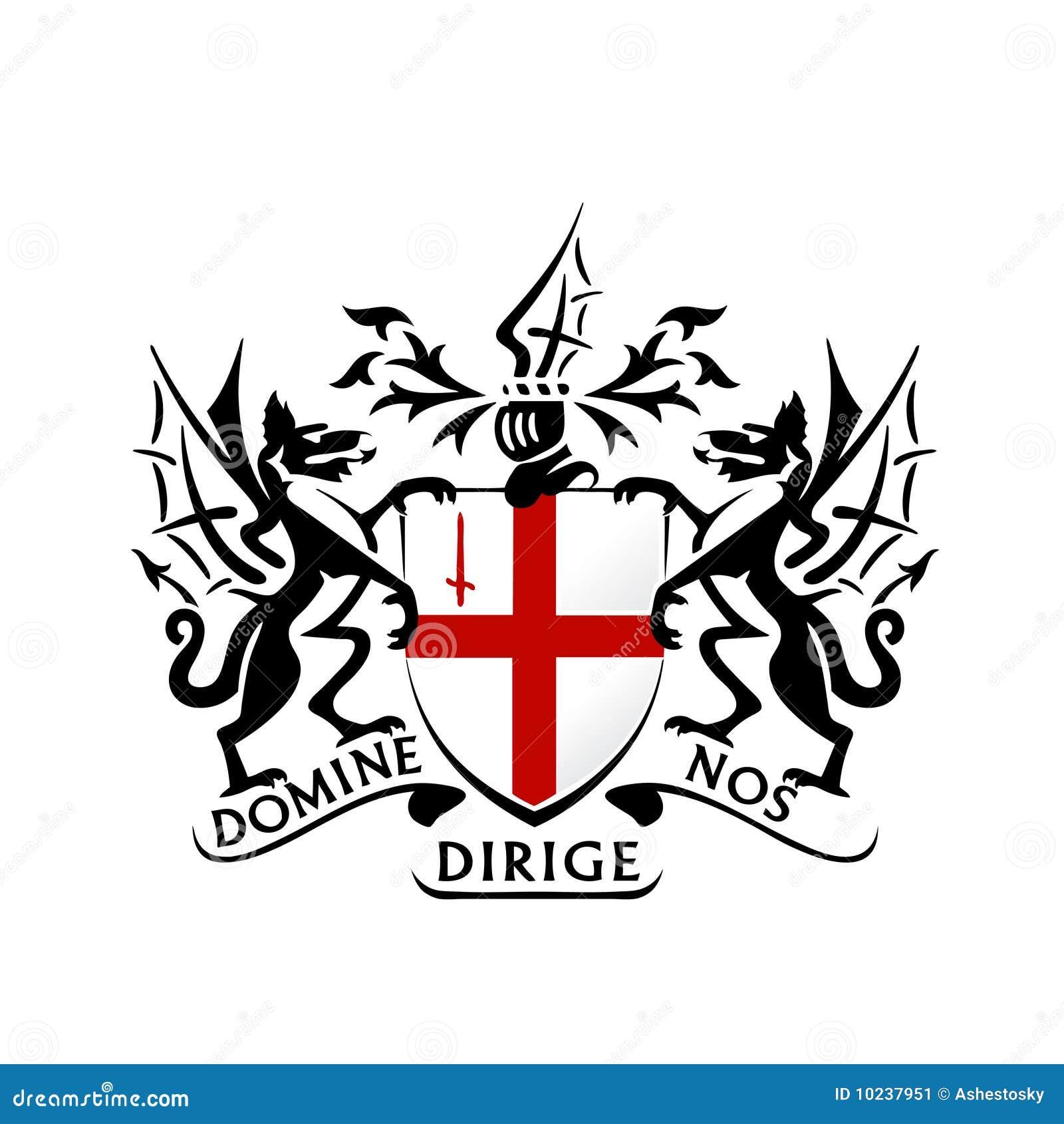 Dragon Logo Template Vector: Modern London Coat Of Arms Vector Stock Image