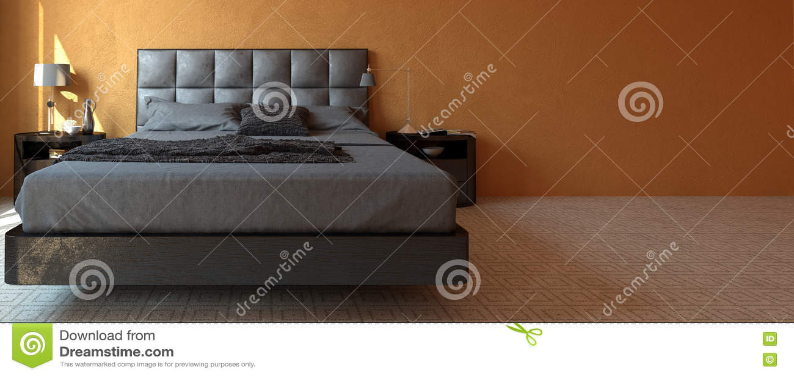 Modern Luxury Bedroom Furniture Modern Luxury Bedroom Interior Banner Stock Illustration Image