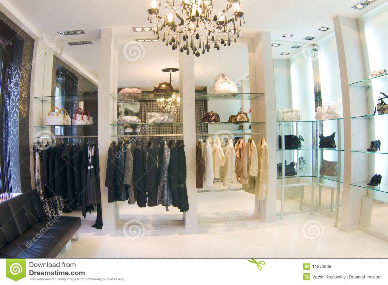 Modern luxury boutique interior royalty free stock photos for Boutique decoration interieur