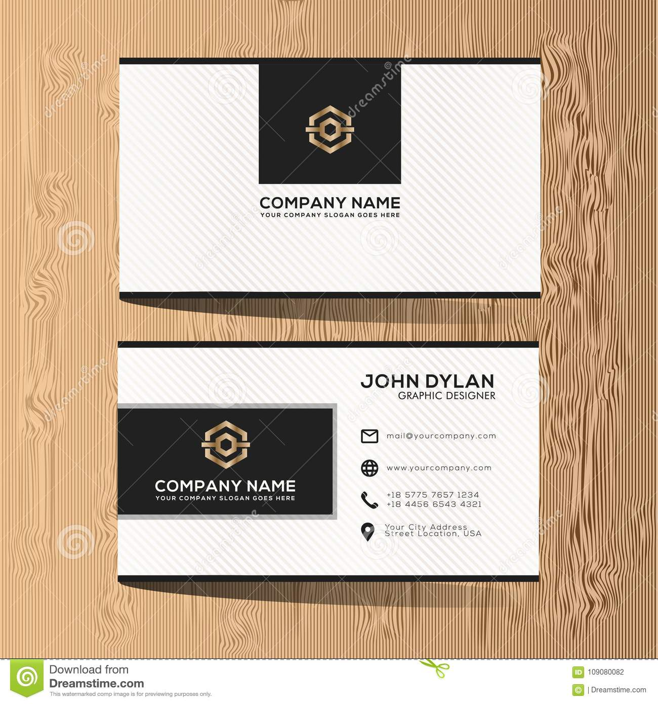 Classy Company Business Card Template 000127 Template Catalog