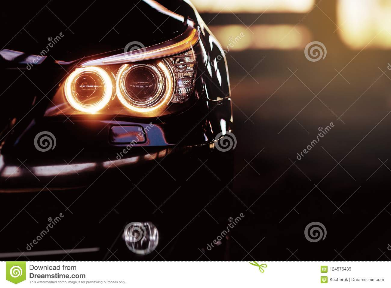 Modern Luxury Car Close Up Banner Background Concept Of Expensive