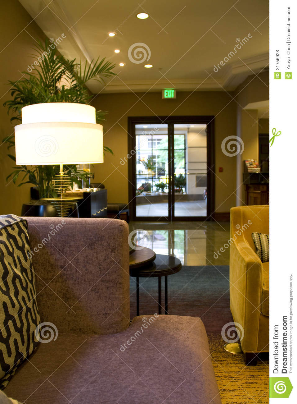 Modern luxury cozy hotel lobby royalty free stock photos for Very luxury hotels
