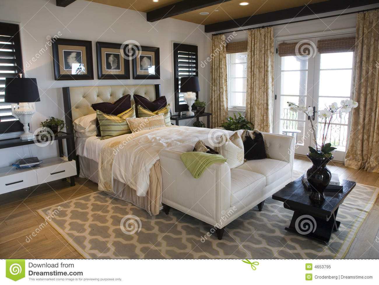 modern luxury home bedroom royalty free stock photo