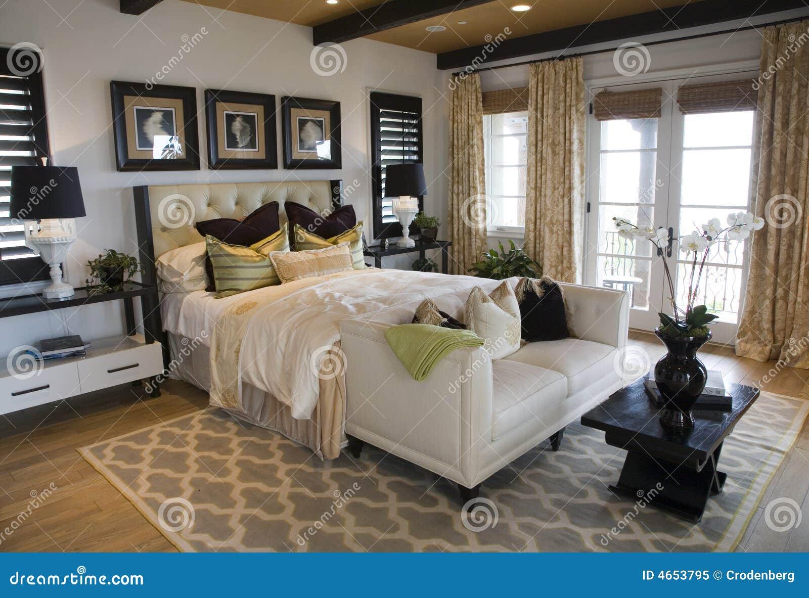 Modern Luxury Home Bedroom Royalty Free Stock Photo