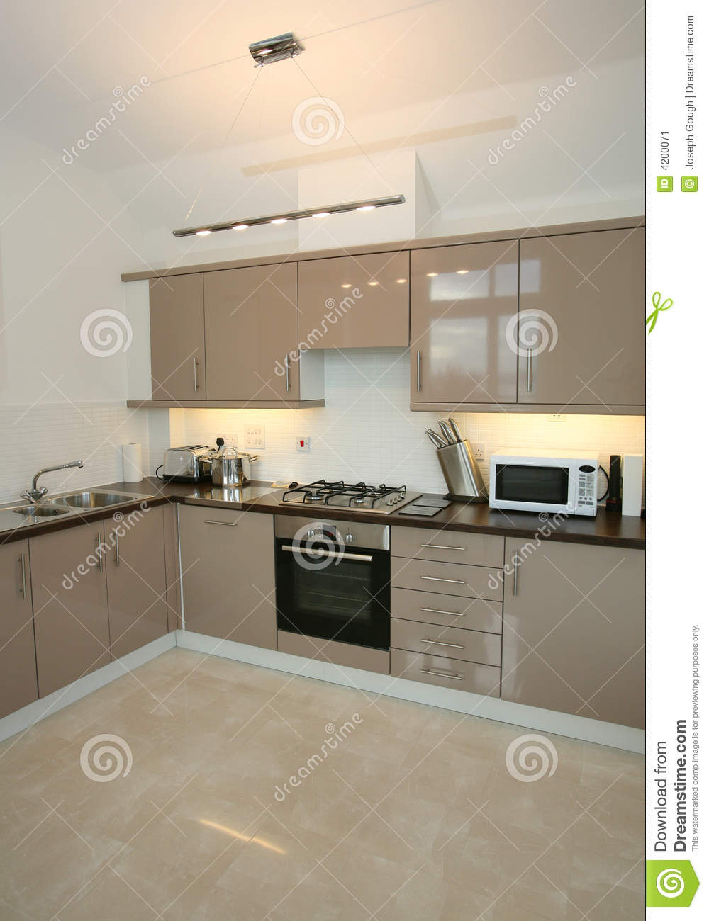 Modern luxury home kitchen interior stock image image for Modern house kitchen