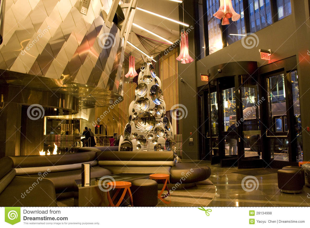 Modern Luxury Hotel Lobby Editorial Stock Photo Image Of