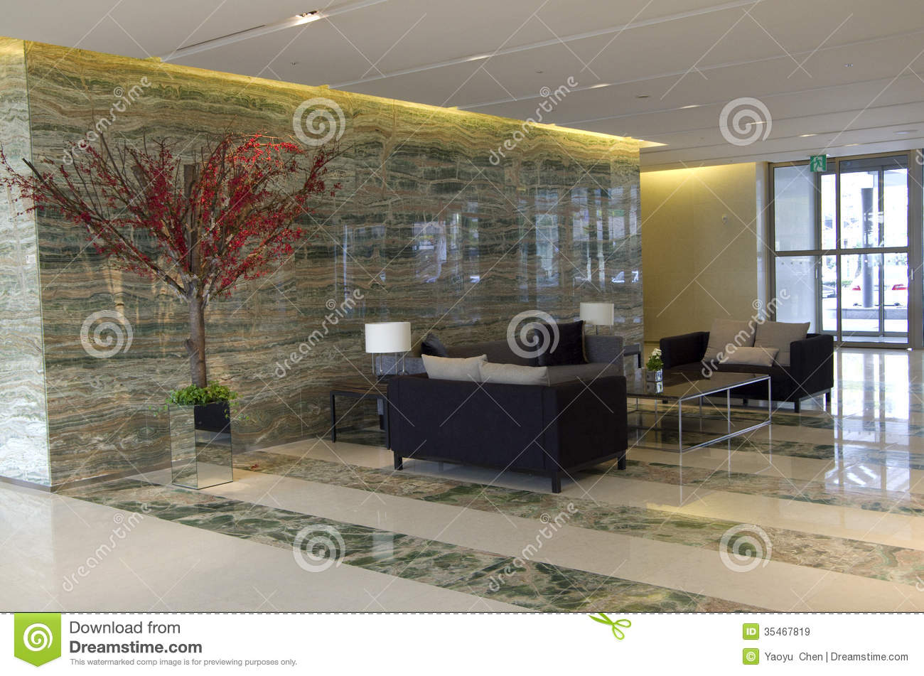 Hotel lobby furniture - Modern Luxury Hotel Lobby Furniture Royalty Free Stock Images