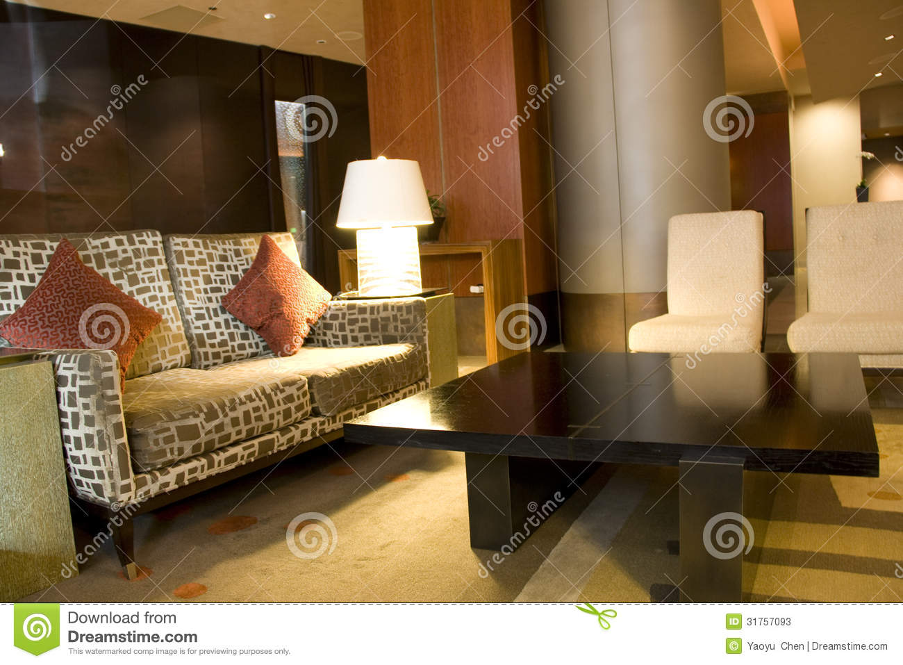 Modern luxury hotel lobby stock image image of business for Nice hotel design