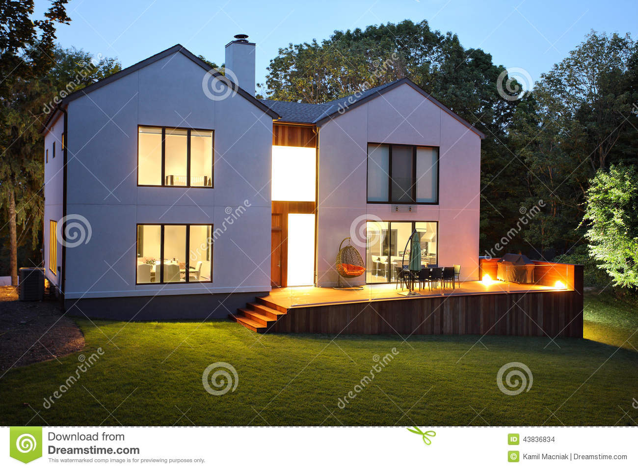 Modern luxury house and garden stock photo image 43836834 for Modern house garden