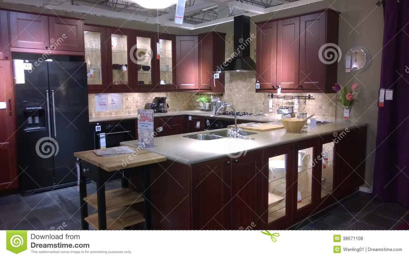 Modern Luxury Kitchen Design Editorial Stock Photo - Image: 38671108