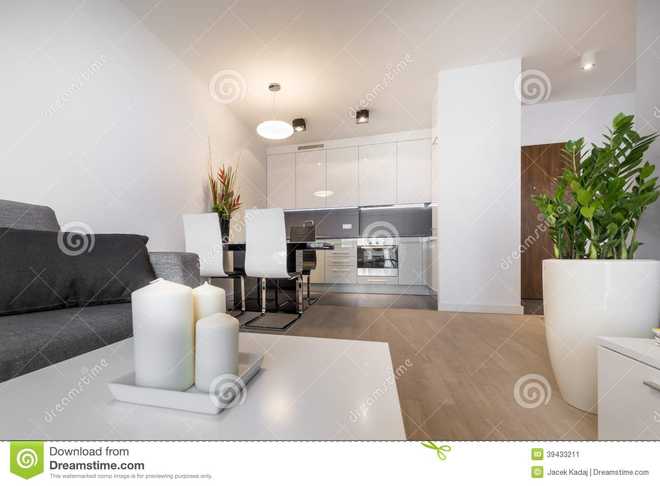 Modern luxury living room interior design stock image for Modern zen interior design living room