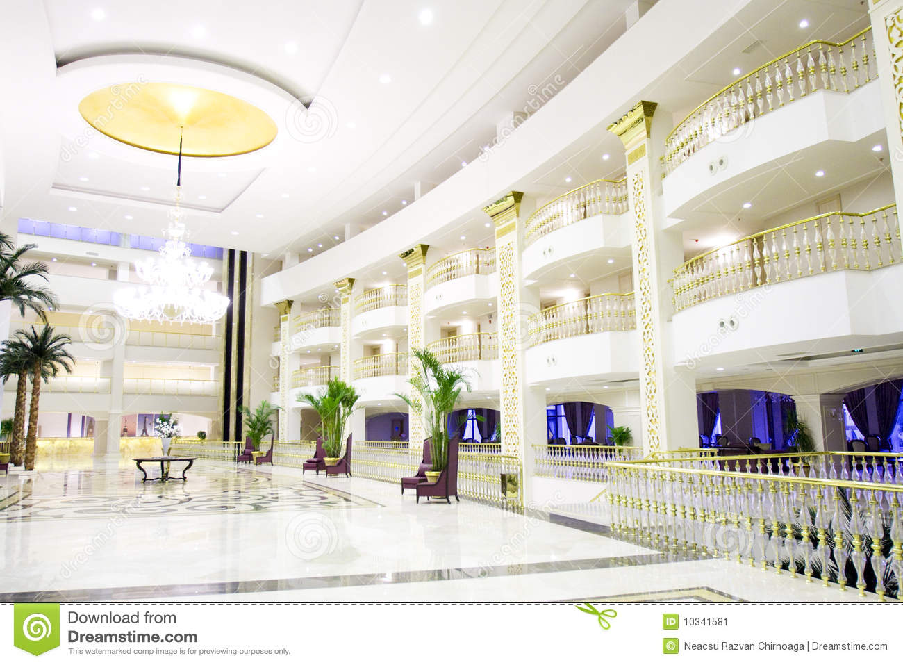 Modern hotel room interior stock photo image 18197840 - Modern Luxury Lobby Interior In Hotel Stock Image