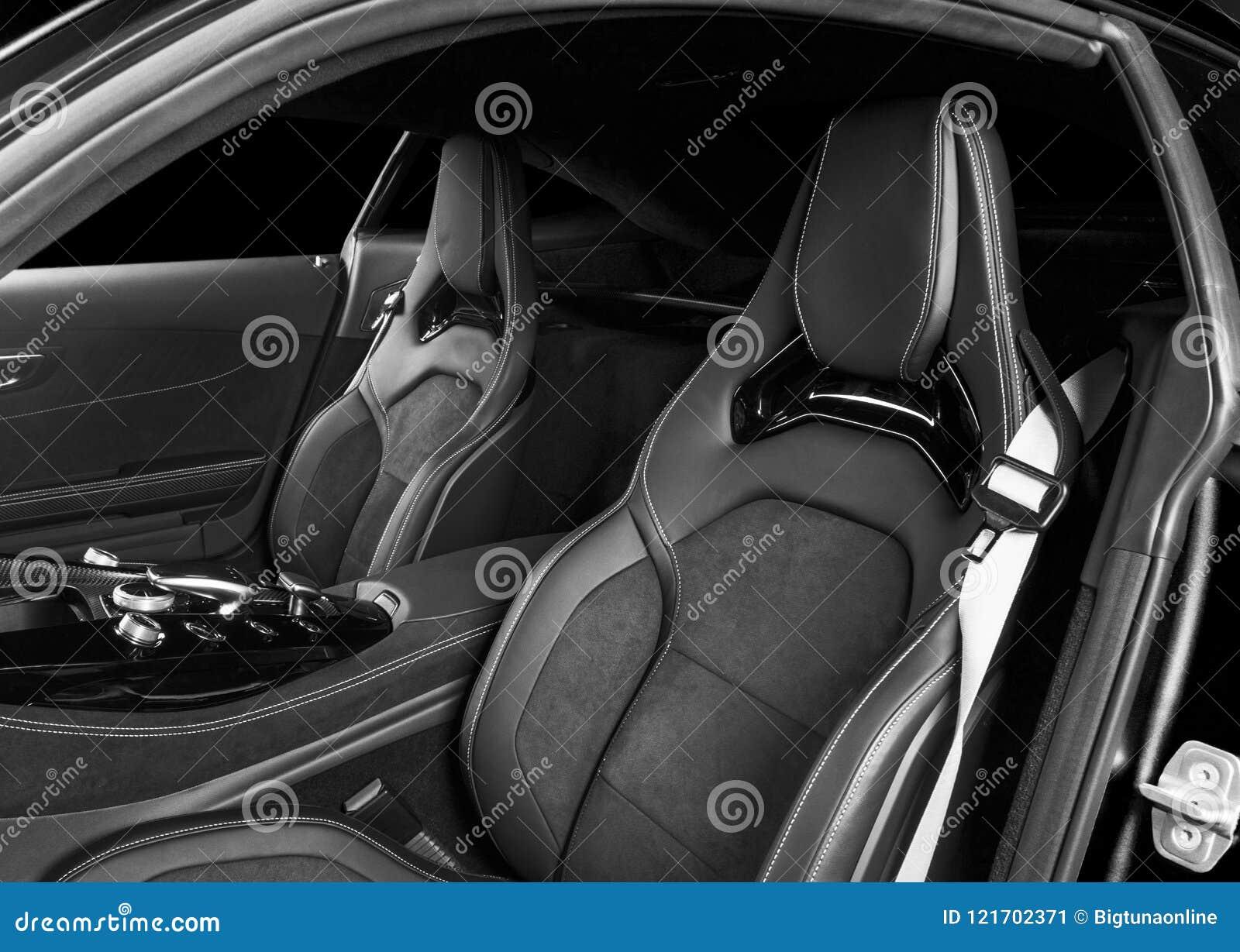 Modern Luxury Sport Car Inside Interior Of Prestige Car Leather