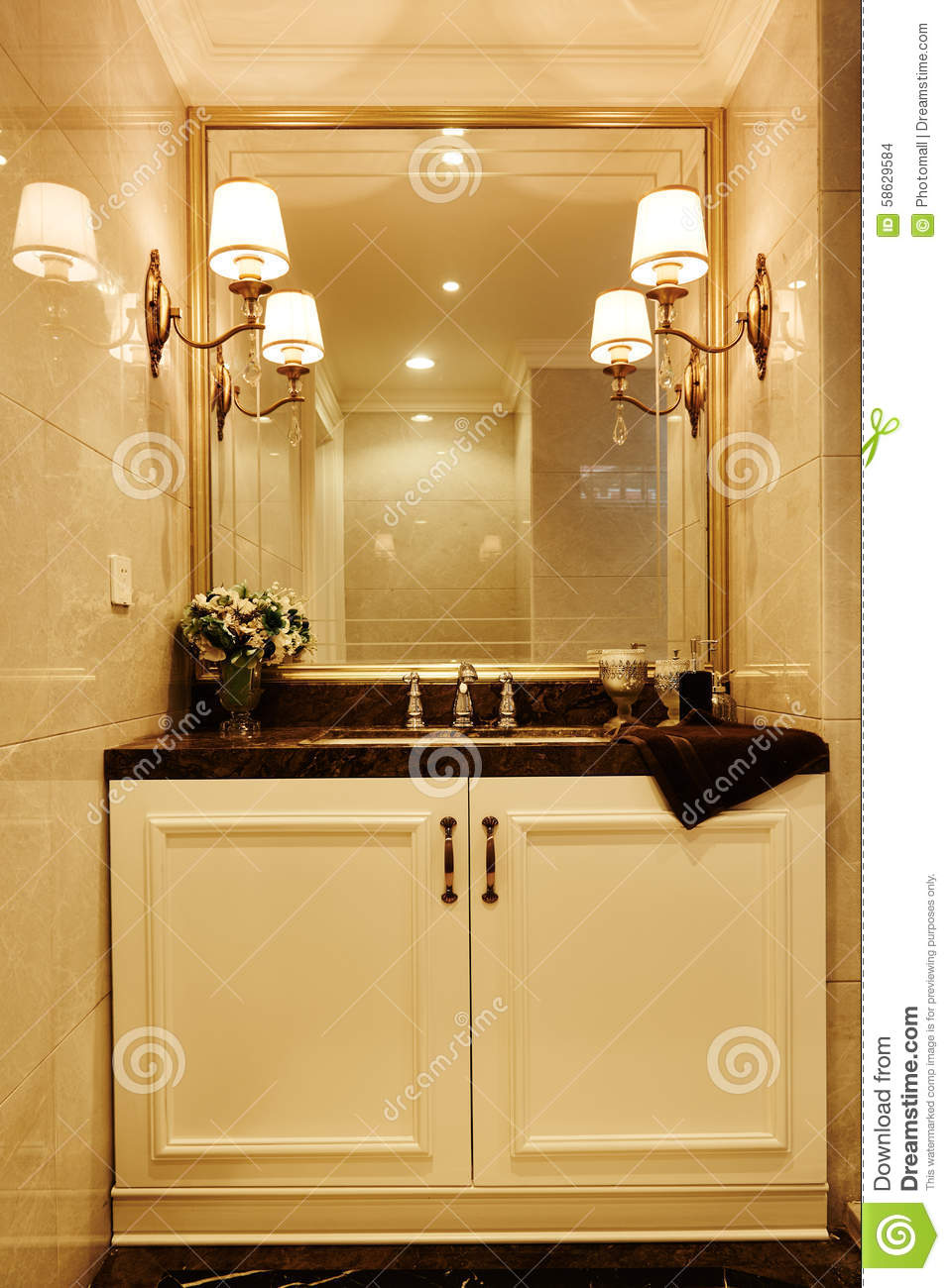 Modern Luxury Washroom Bathroom Stock Photo Image 58629584