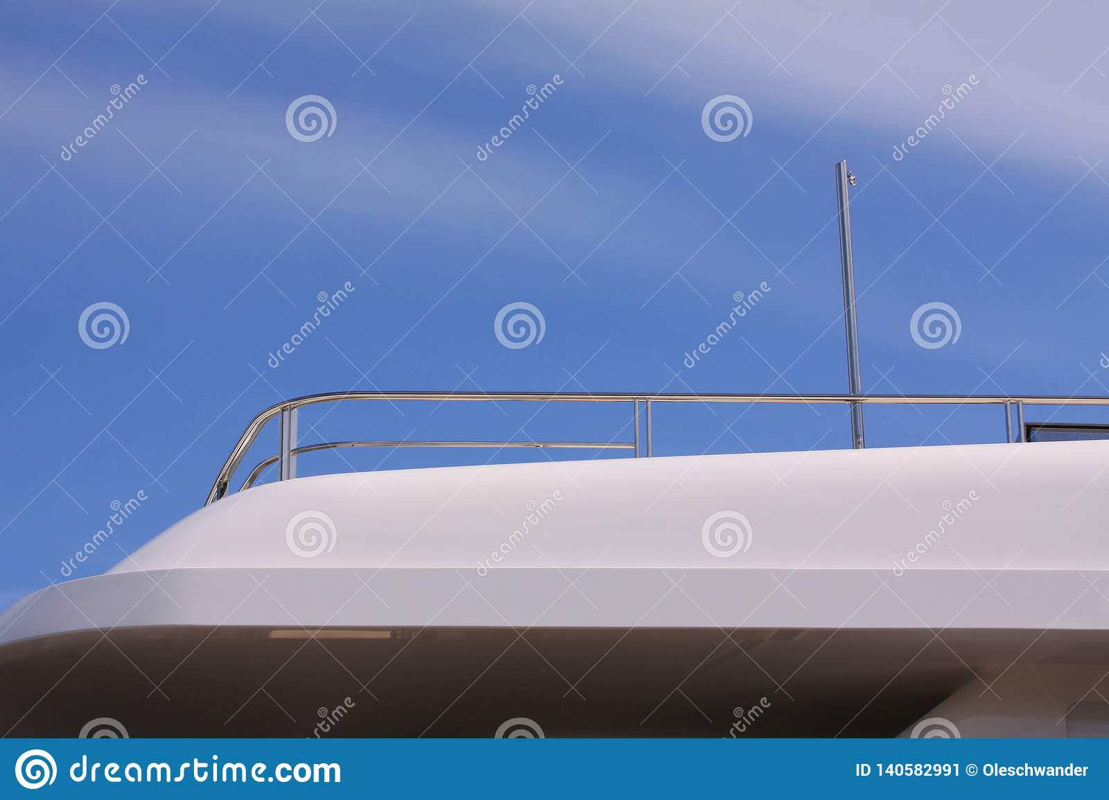 Modern Luxury Yacht Details With Stainless Steel Yacht