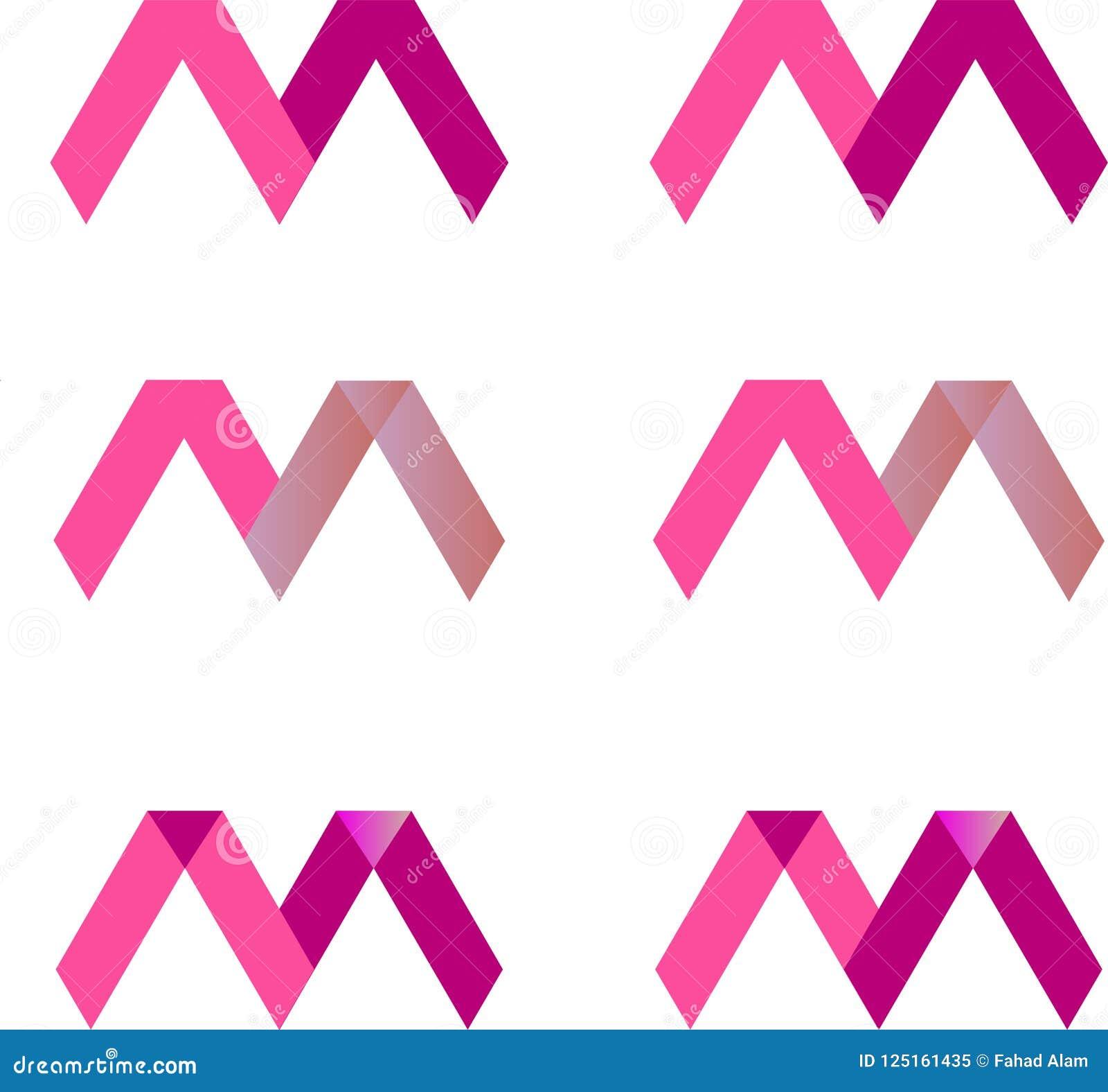 Modern m-brievenembleem