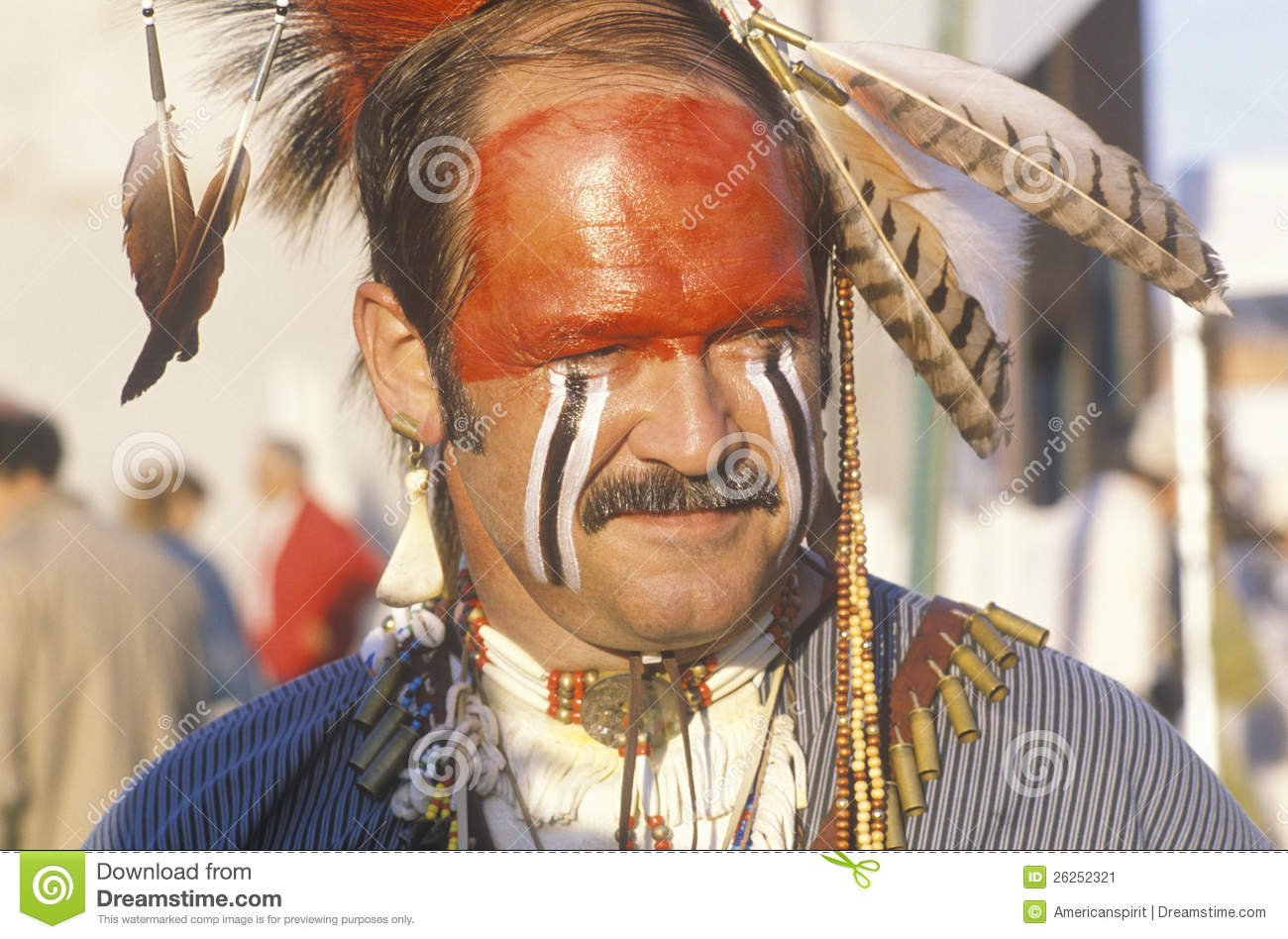 A Modern Man Dressed In Native American Editorial Photo ...