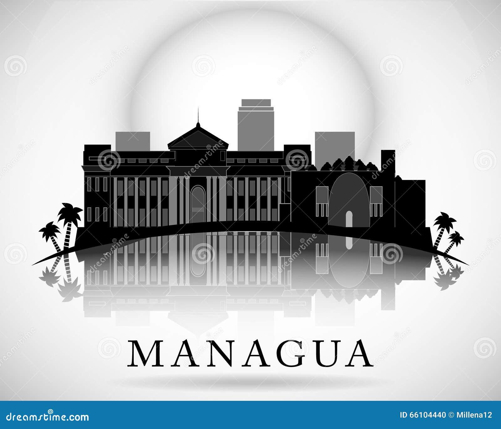 Modern Managua City Skyline Design. Nicaragua