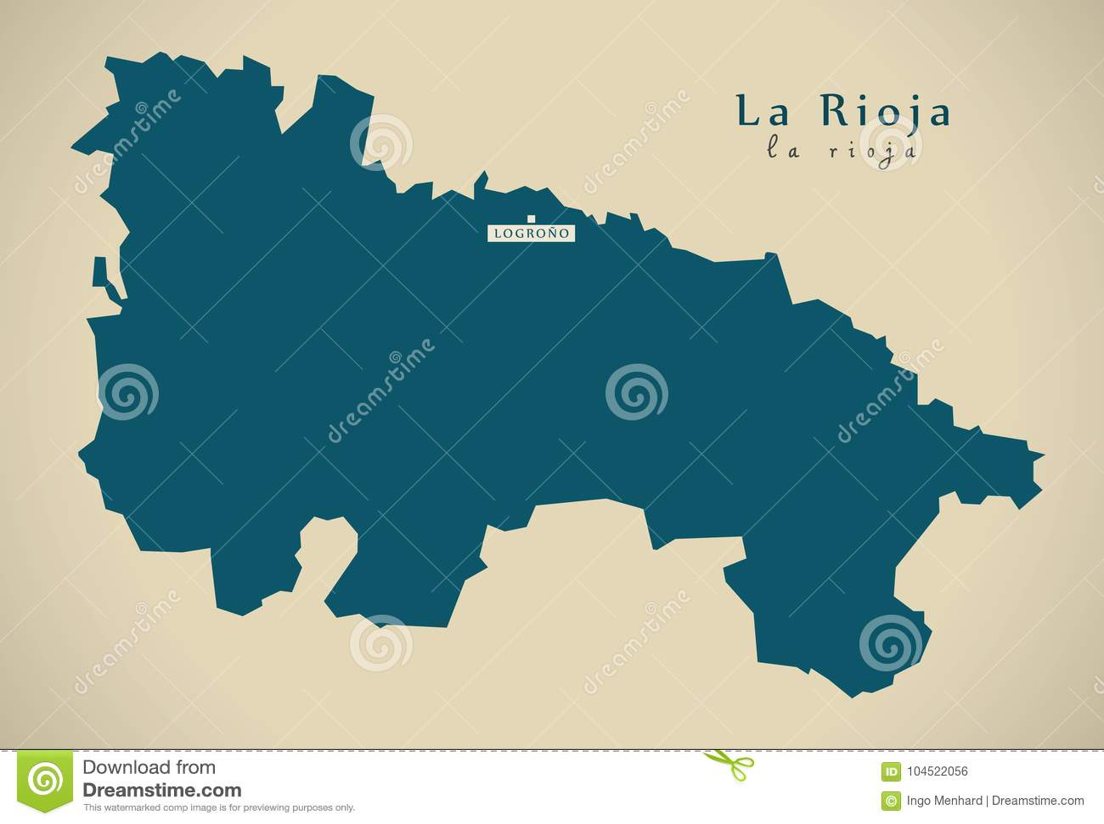 Map Of Spain Rioja.Modern Map La Rioja Spain Es Stock Illustration Illustration Of