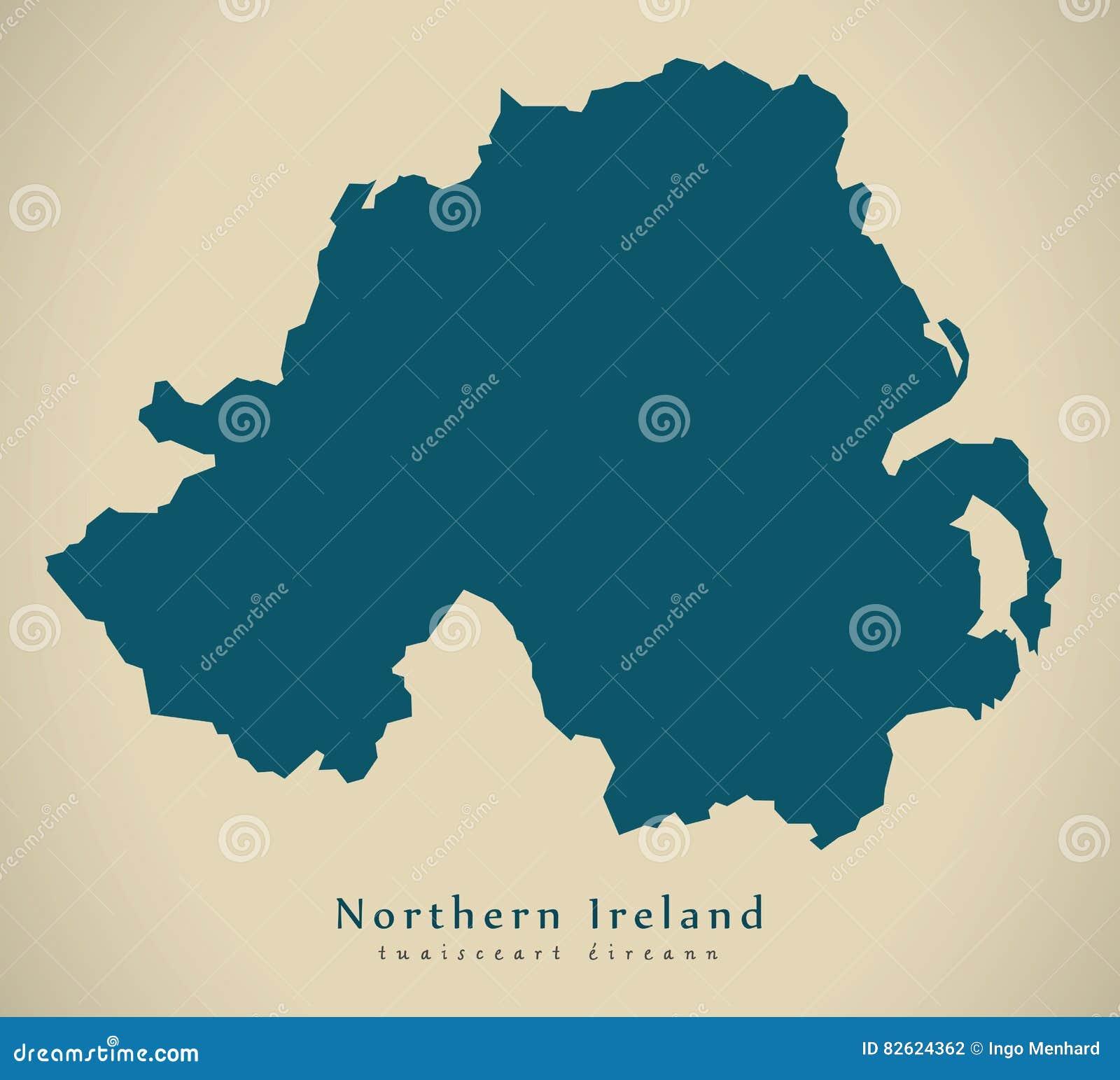 Map Of Ireland And The Uk.Modern Map Northern Ireland Uk Stock Illustration Illustration