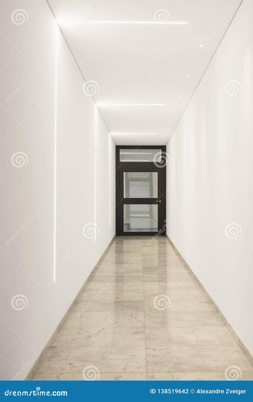 Modern marble corridor of luxury condominium