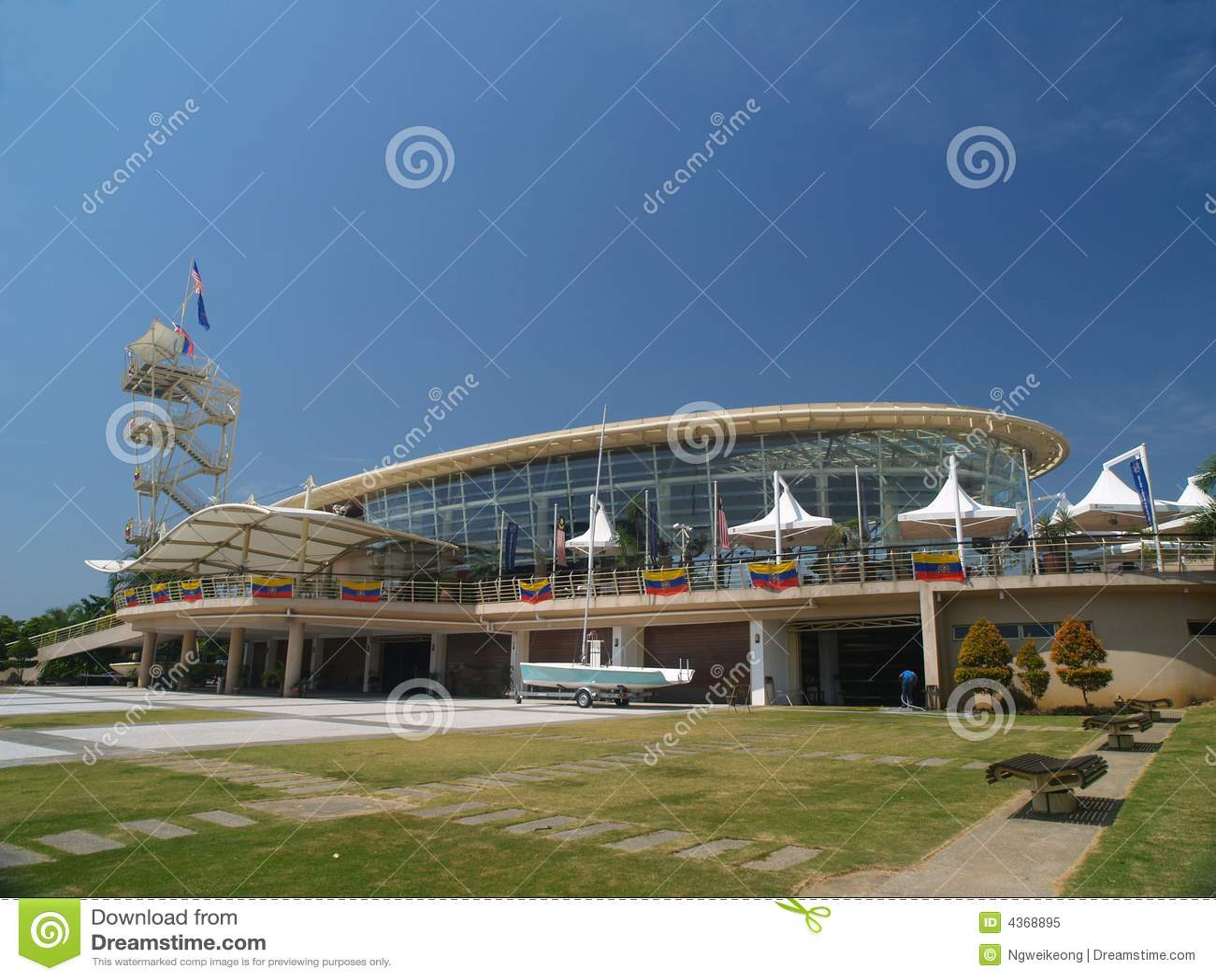 Modern Marina Yacht Club Stock Image Image Of Sail Maritime 4368895