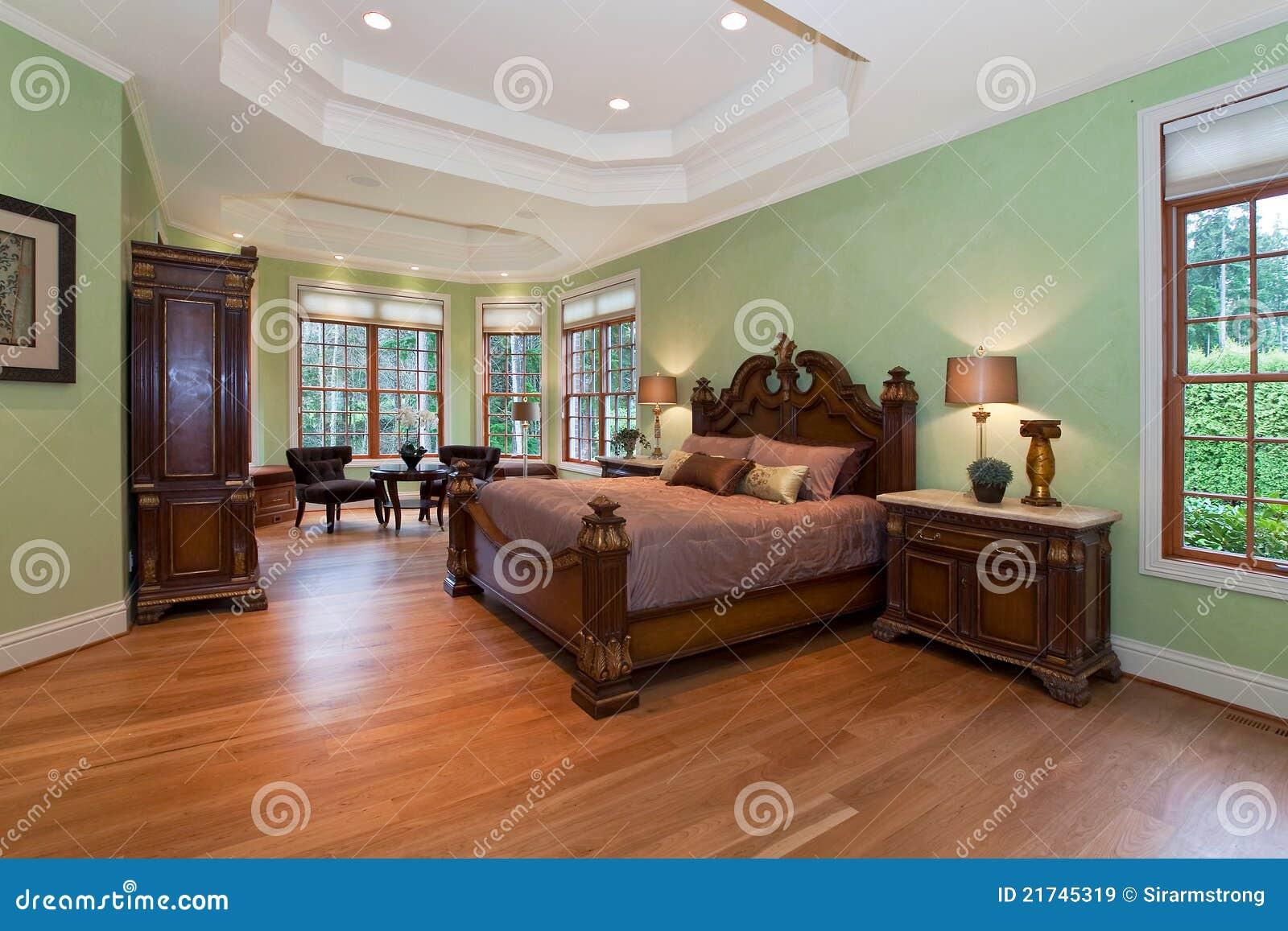 Modern Master Bedroom Royalty Free Stock Image