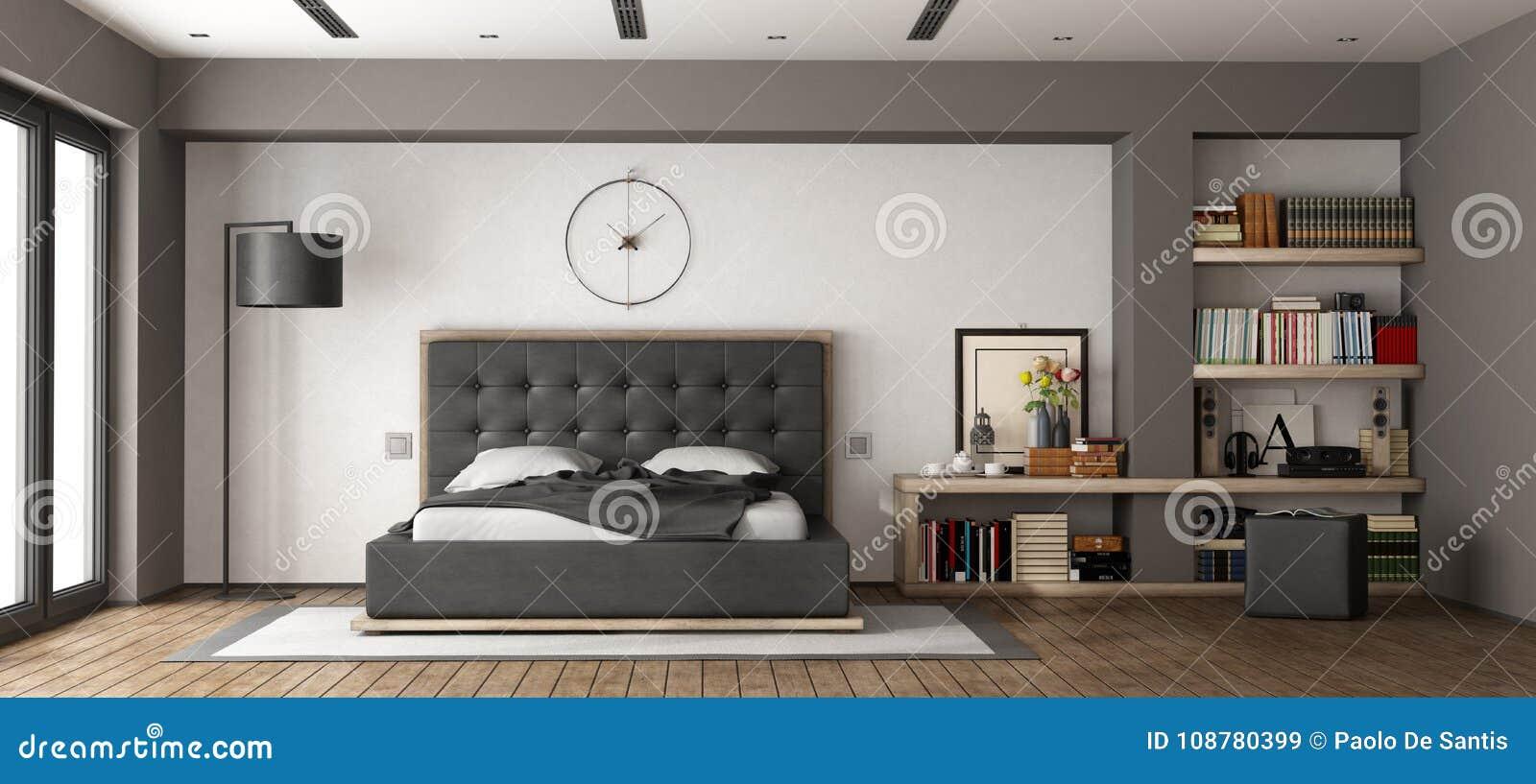 Modern Master Bedroom Stock Illustration Illustration Of