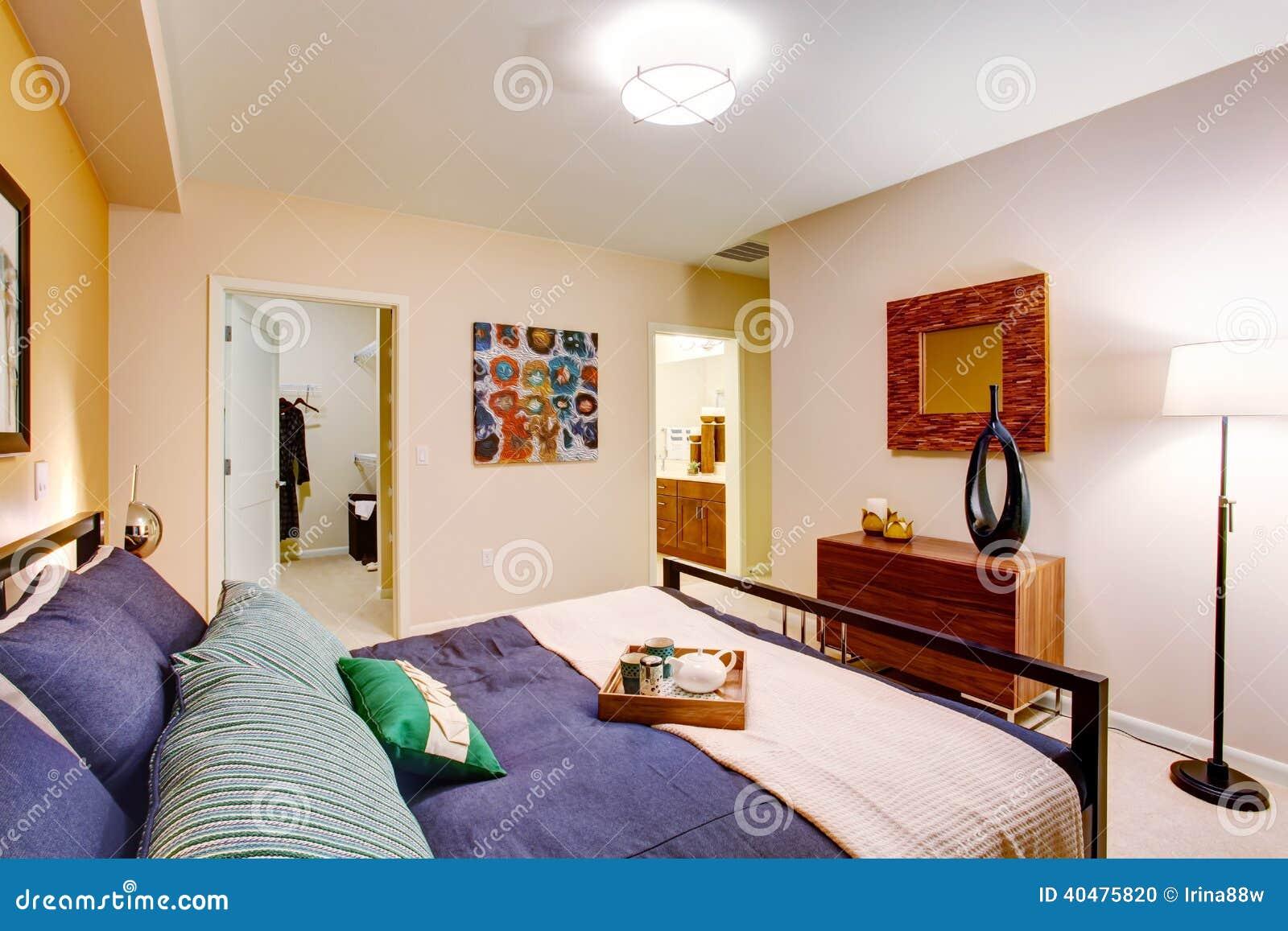 Modern master bedroom stock photo image of estate inside for Master bedroom closet