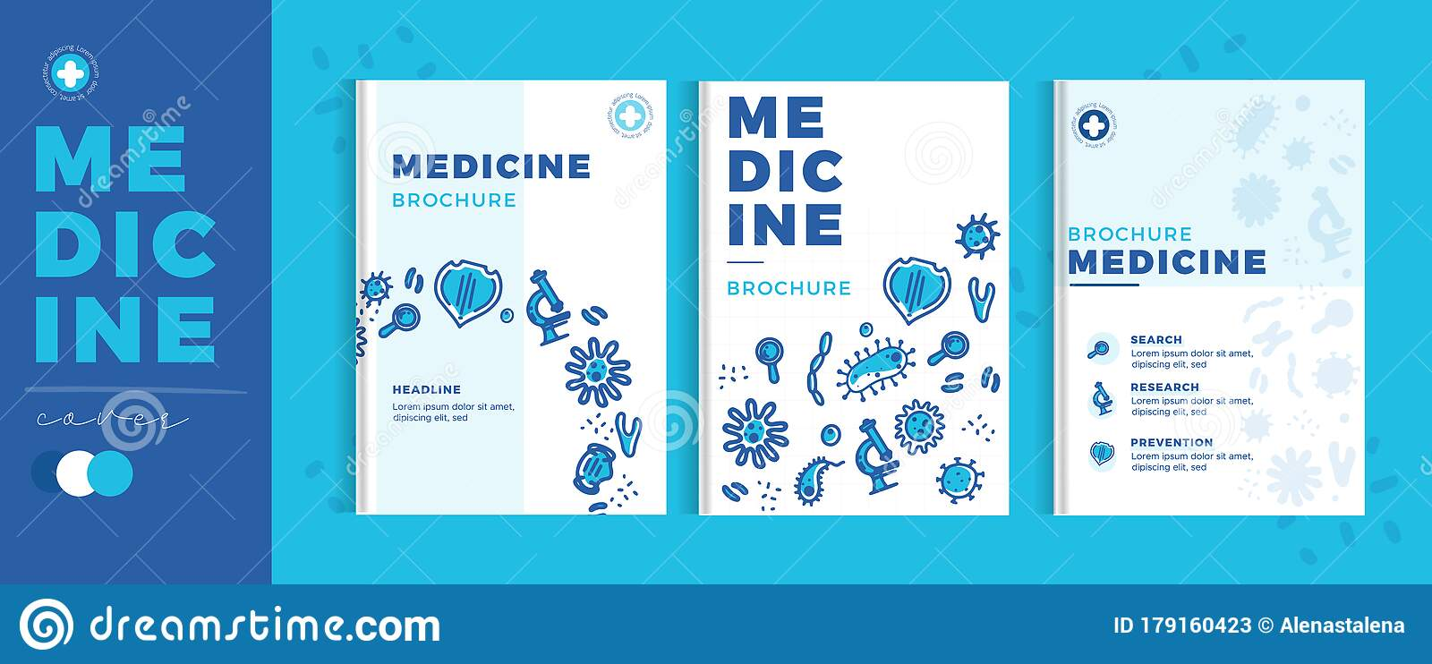 Modern Medicine Brochure Pharmacy Template, Flat Healthcare Cover Within Pharmacy Brochure Template Free