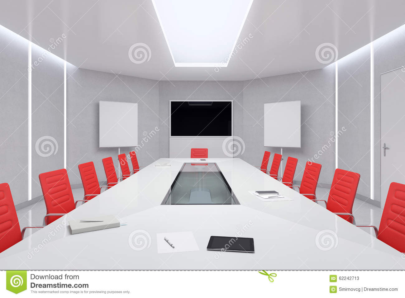 Modern Glass Executive Desk Modern Meeting Room. 3...
