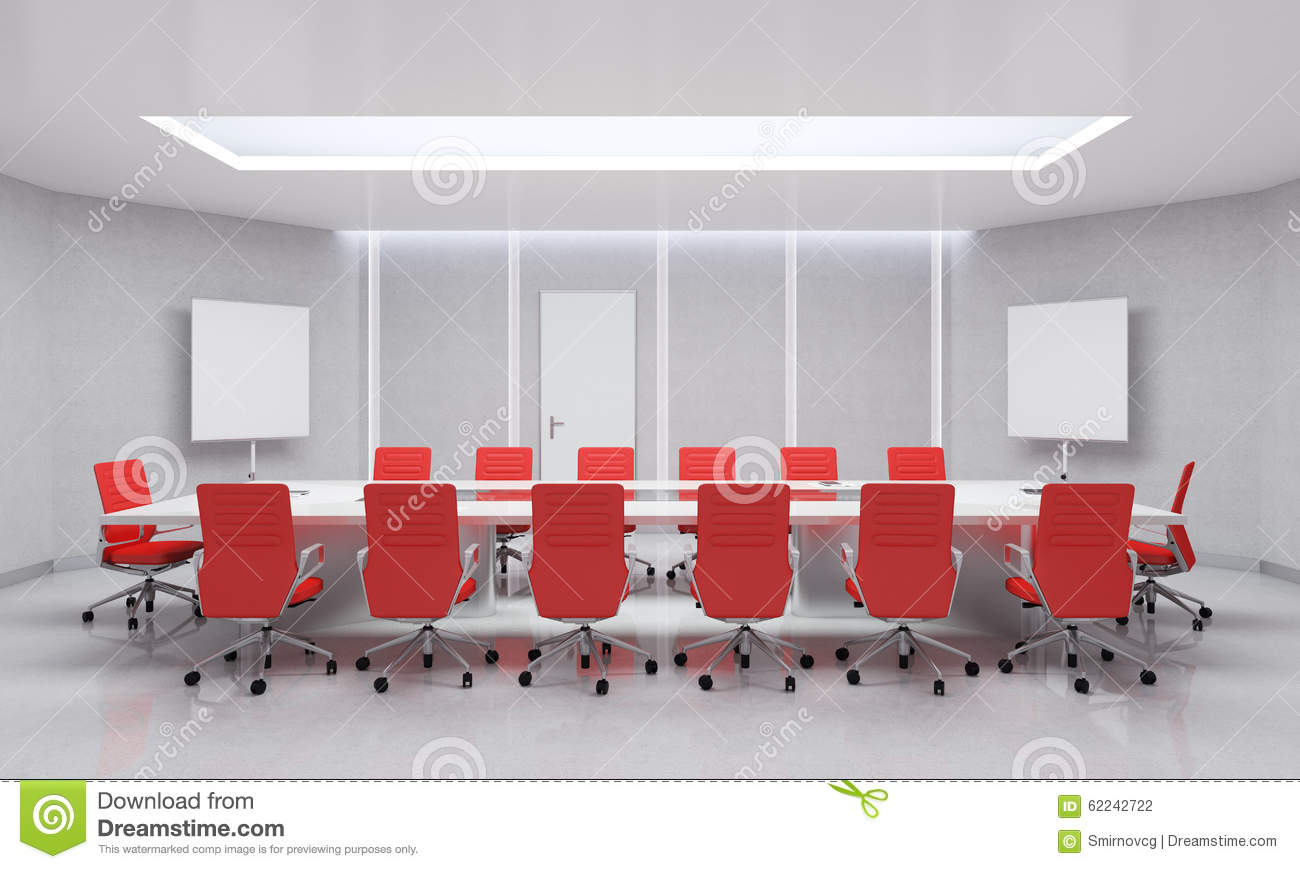 Red conference room chairs - Chairs Illustration Meeting Modern Red Room