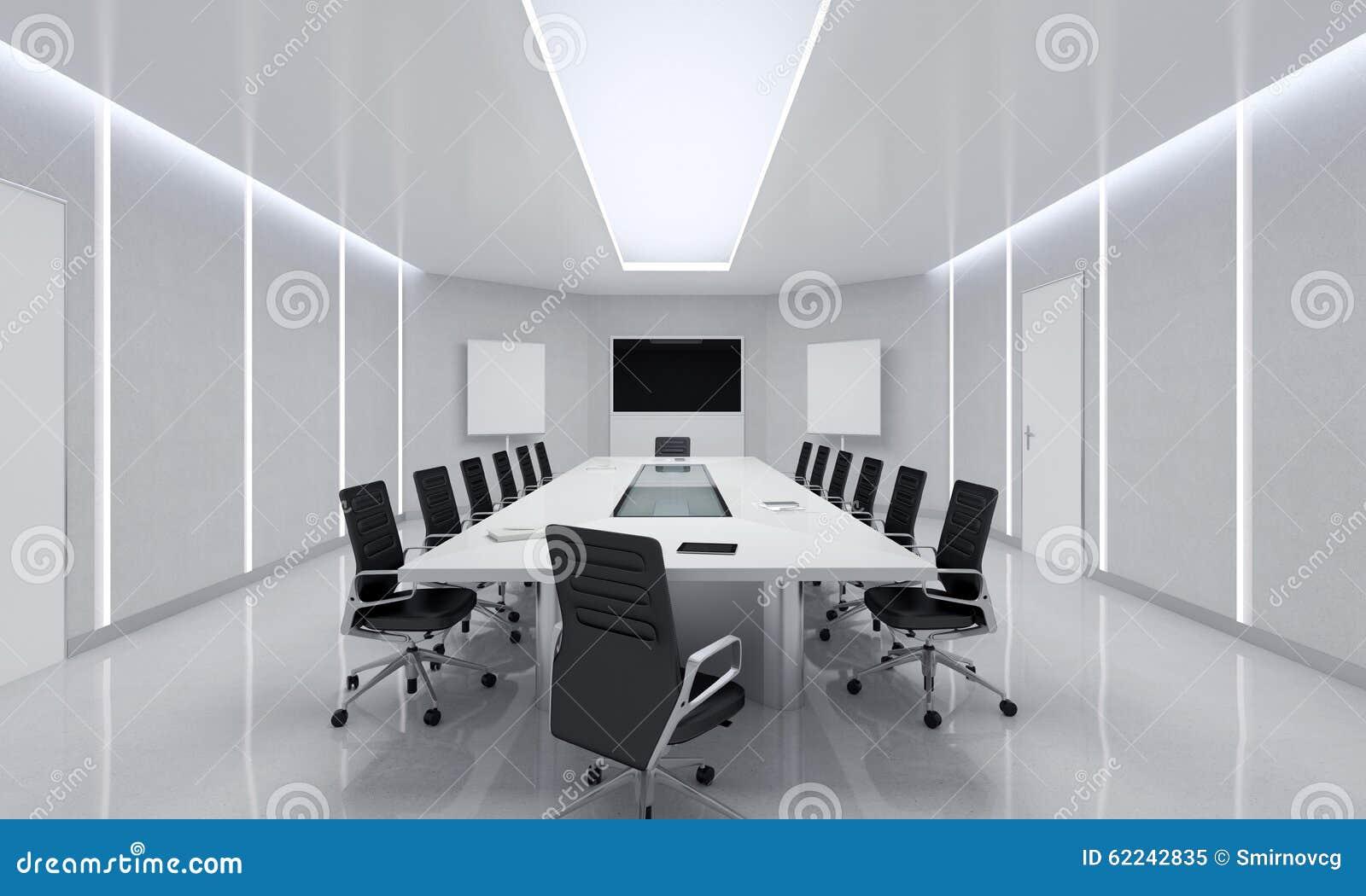 Modern Meeting Room 3d Illustration Stock Illustration