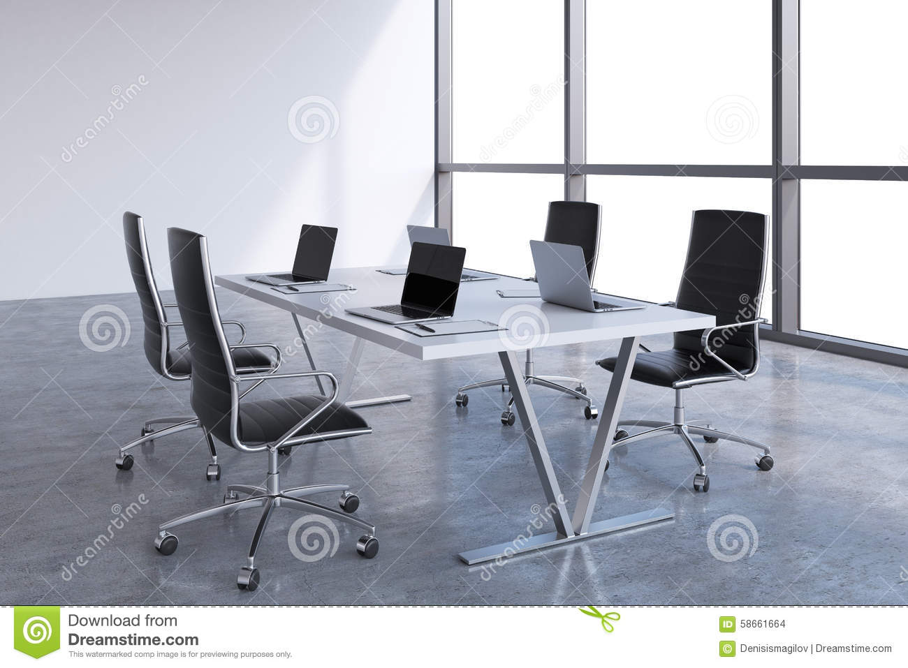 Modern Conference Room Chairs Finest Modern Meeting Room D Stock