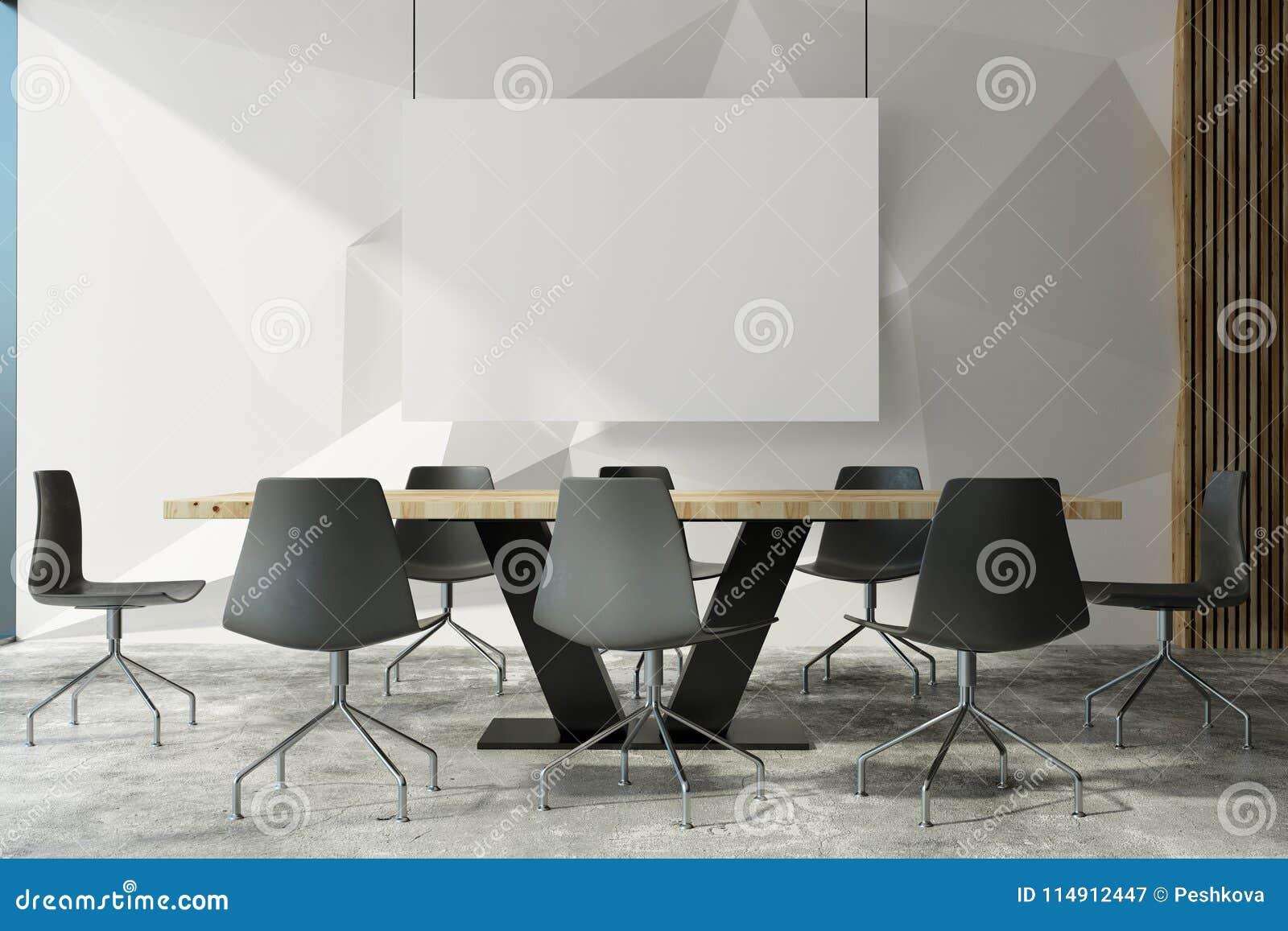 Modern Interieur Wit : Modern meeting room wit poster stock illustration illustration