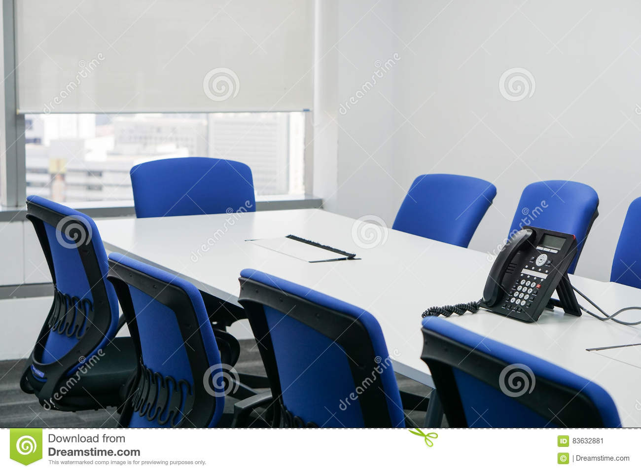 Modern Meeting Room In Office Stock Image Image Of Chair Line