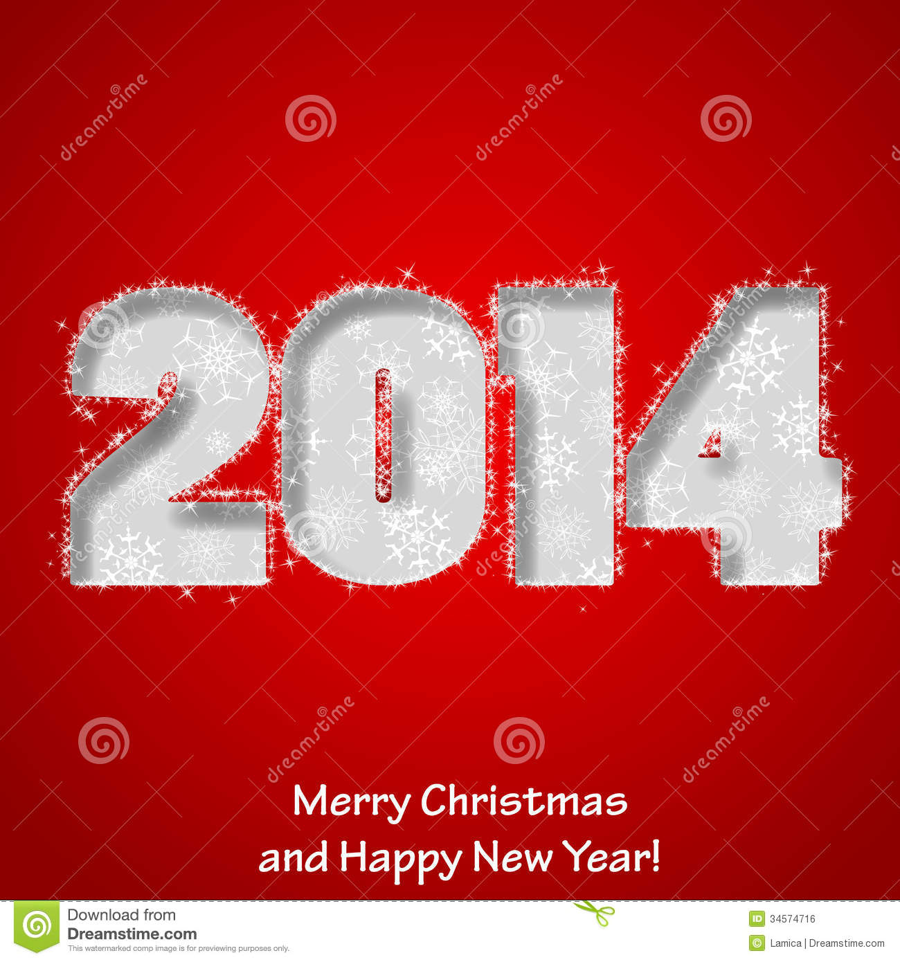 Modern Merry Christmas And Happy New Year Greeting Card Stock Vector ...