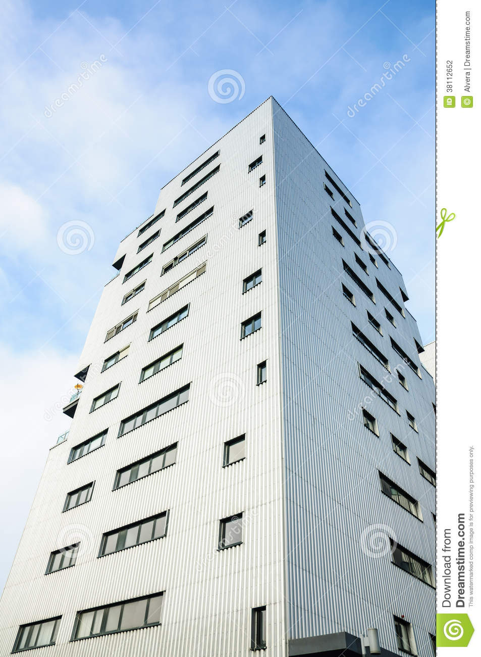 Modern Metal Building Stock Photography Image 38112652