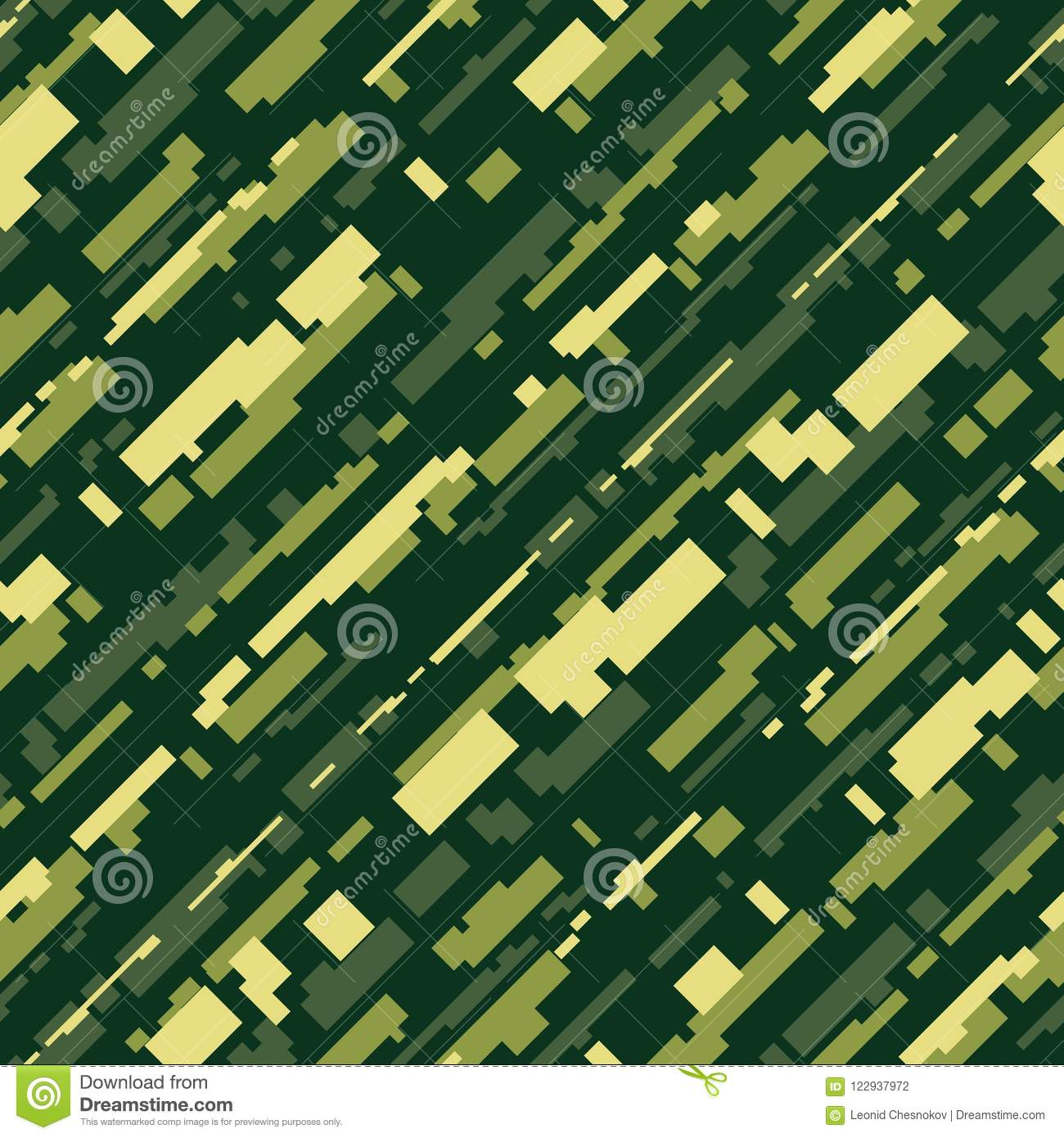 Futuristic Camouflage Vector Seamless Pattern Stock Vector