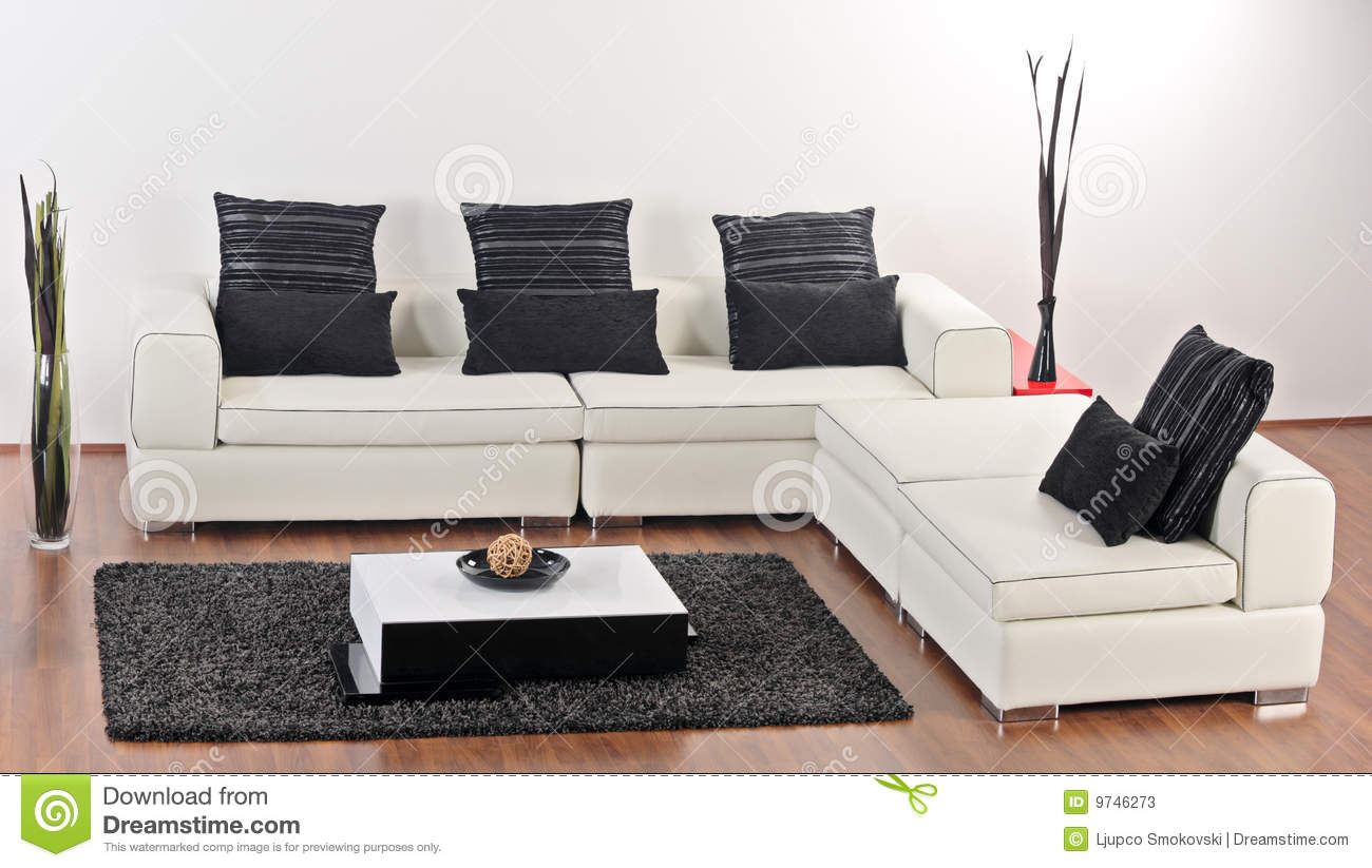 A Modern Minimalist Living-room Stock Photos - Image: 9746273