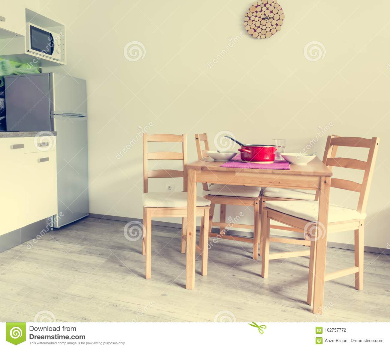 Modern And Minimalistic Kitchen Set Stock Photo Image Of Rink