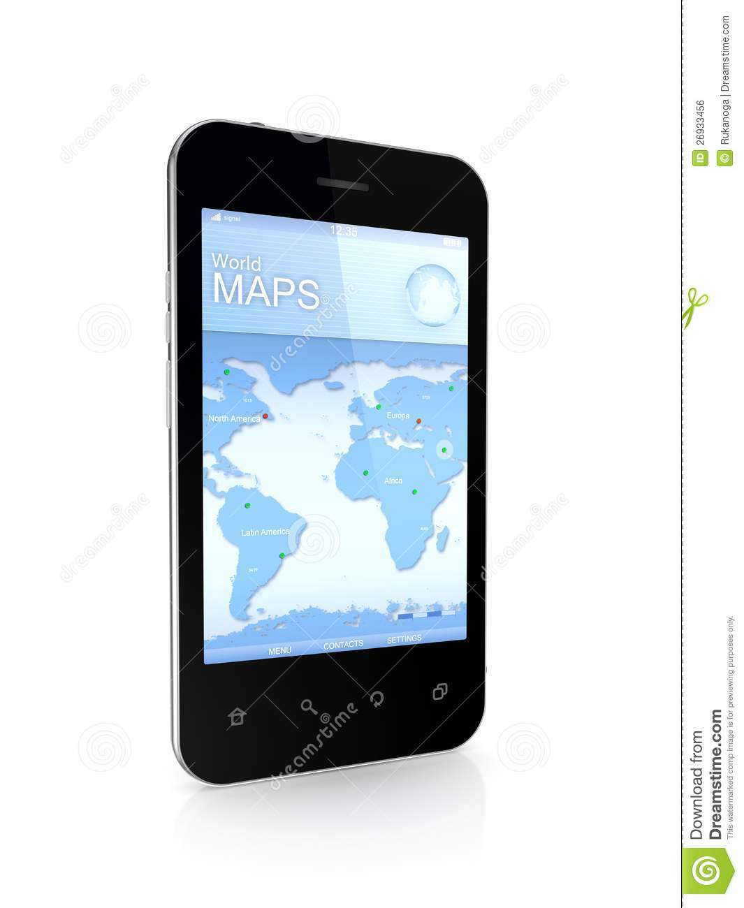 Modern mobile phone a world map stock illustration illustration modern mobile phone a world map royalty free stock photo publicscrutiny Choice Image