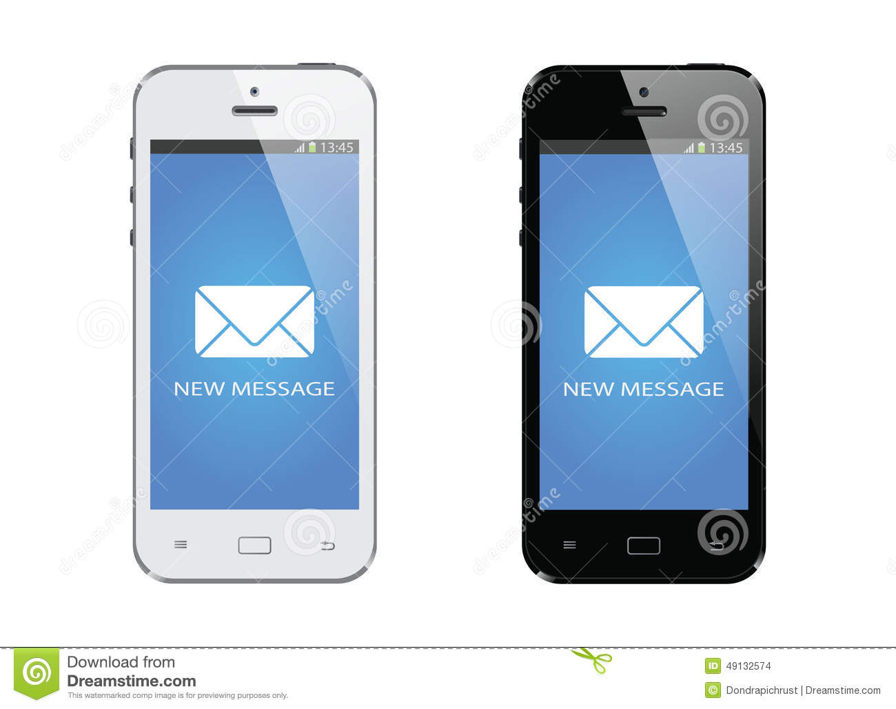 New Message On Mobile Smart Phone Stock Photos - Image: 26401713