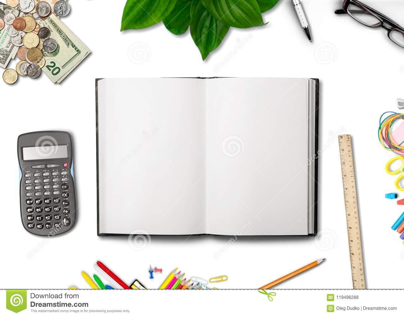 Modern stock photo  Image of table, computer, notepad