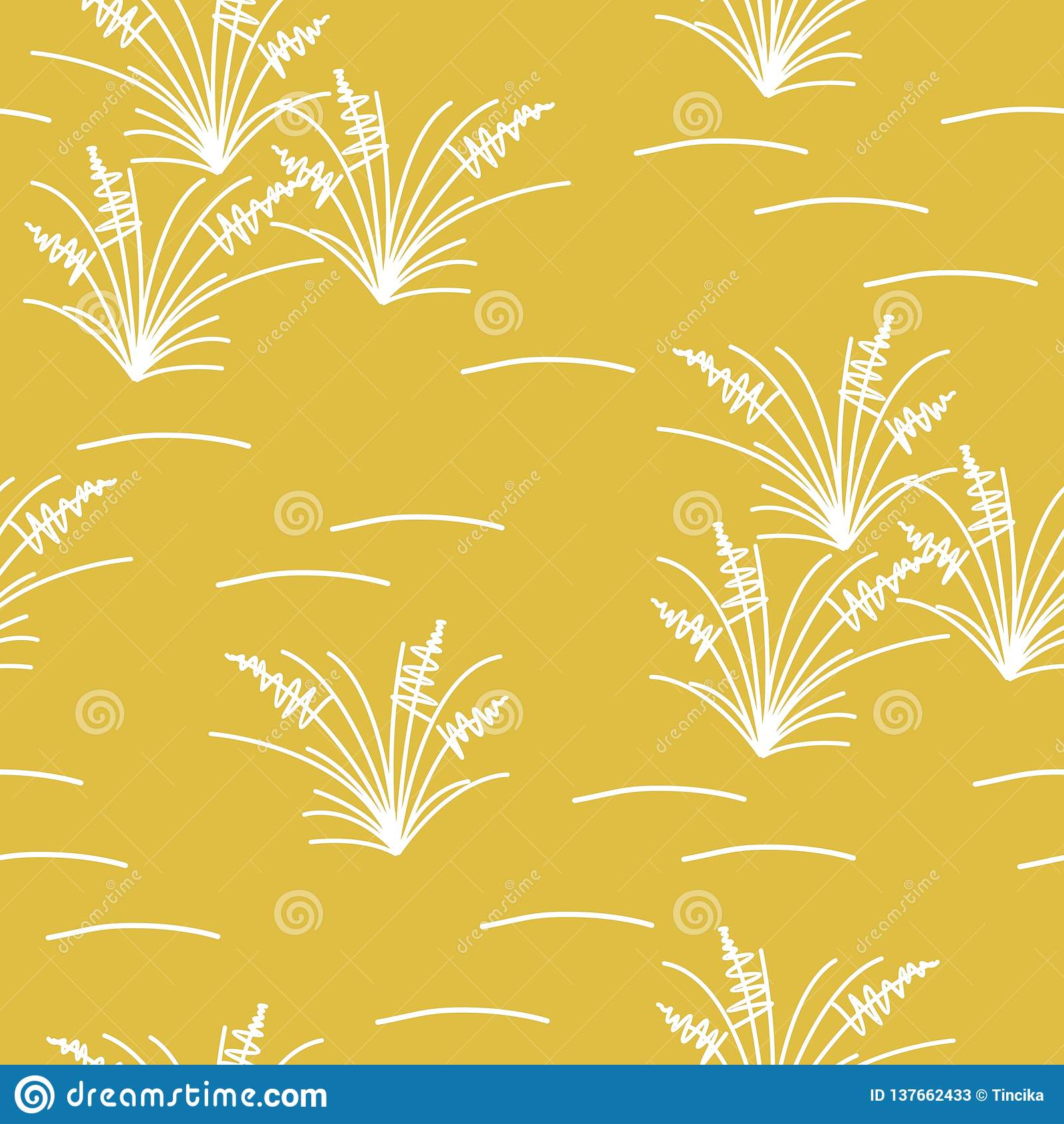 Elegant spring colors, nature insprired monochromatic vector seamless pattern.