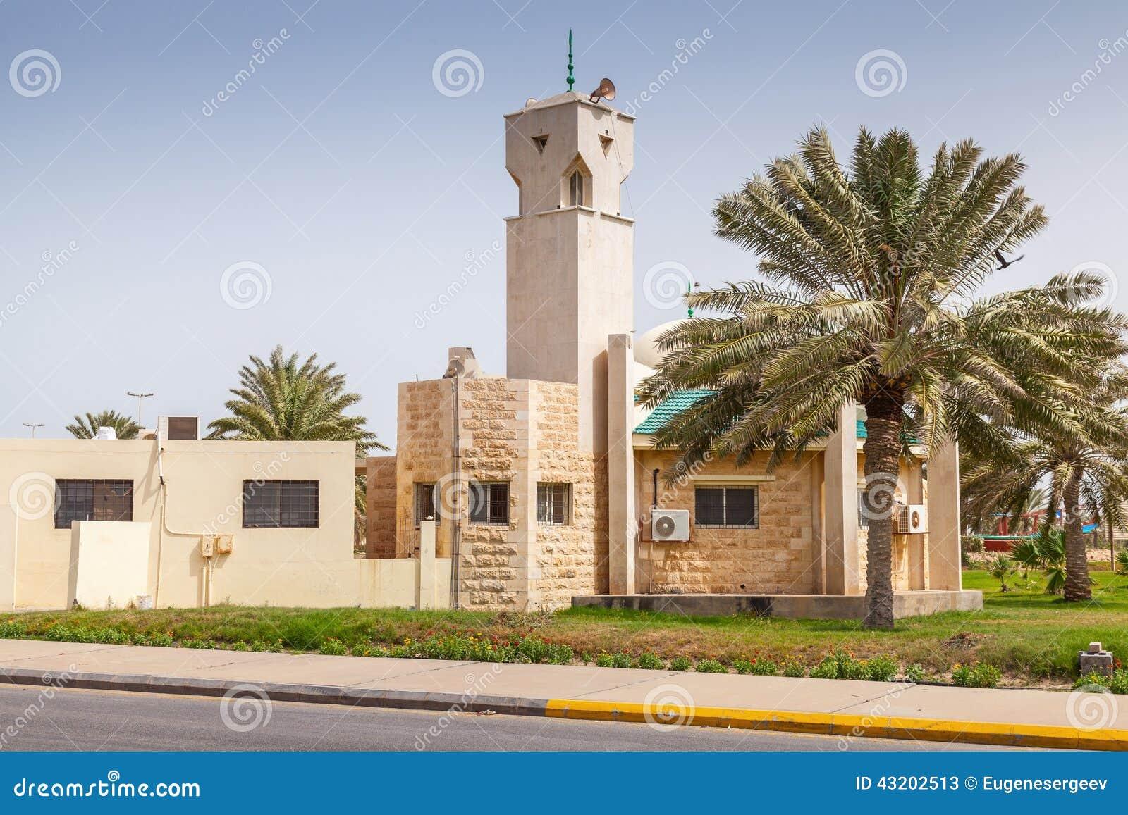 Download Modern Moské I Rahima, Saudiarabien Fotografering för Bildbyråer - Bild av utomhus, ytter: 43202513