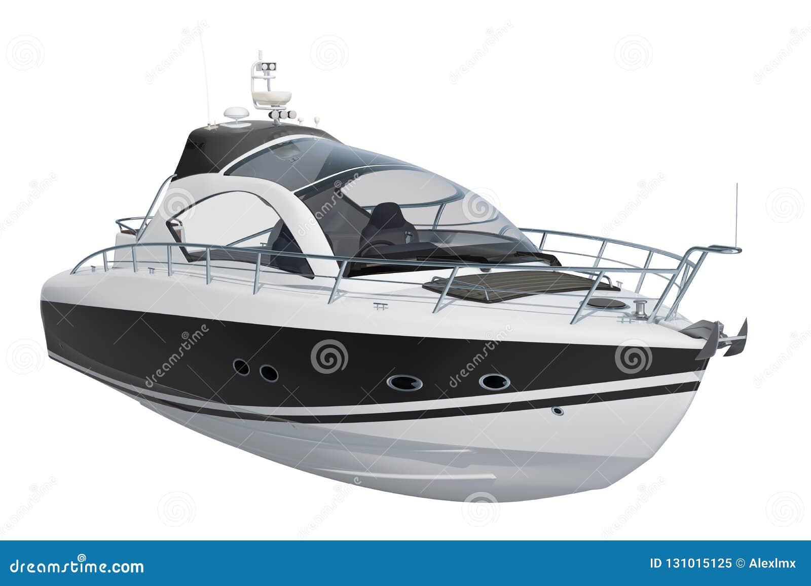 Modern motorbåt, tolkning 3D