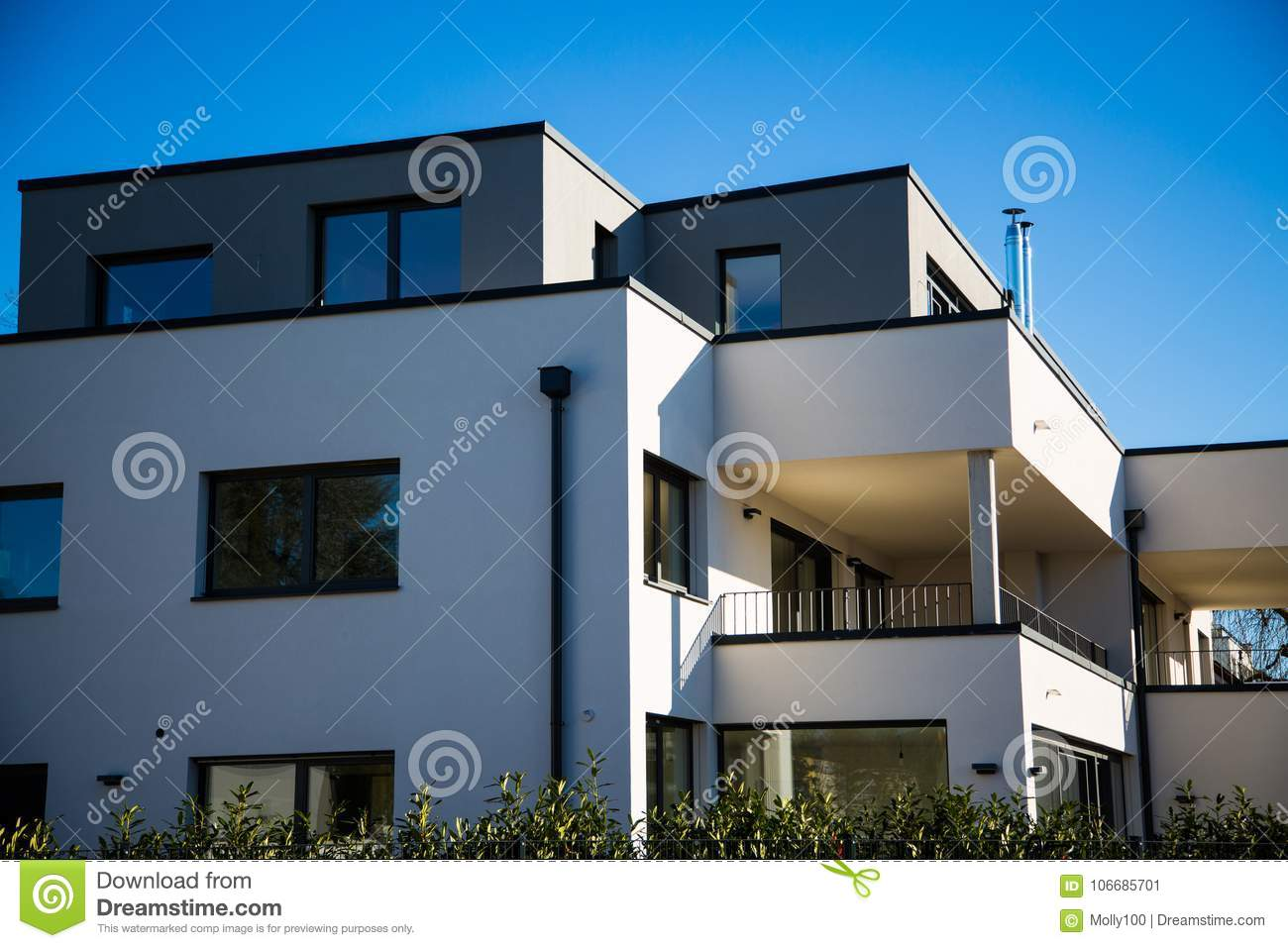 Modern Multi Family House In Munich, Blue Sky Stock Image ... on narrow duplex house plans, narrow 2 family house plans, narrow victorian house plans, narrow split-level house plans, narrow bungalow house plans, narrow waterfront house plans, 2 story duplex house plans, narrow home house plans, narrow lot house plans, narrow one level house plans,