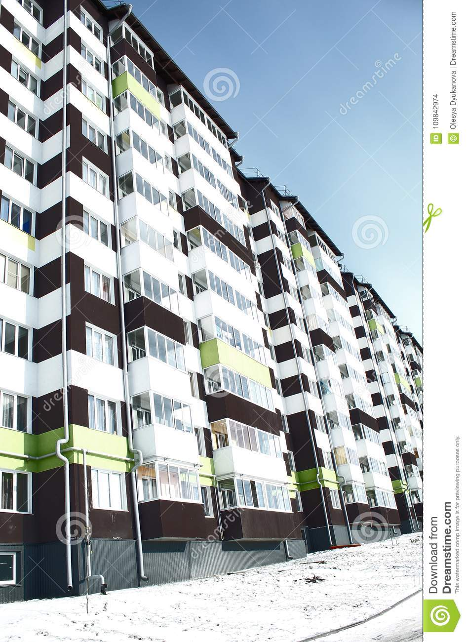 Modern Multi-storey Building With Balconies Stock Photo ...
