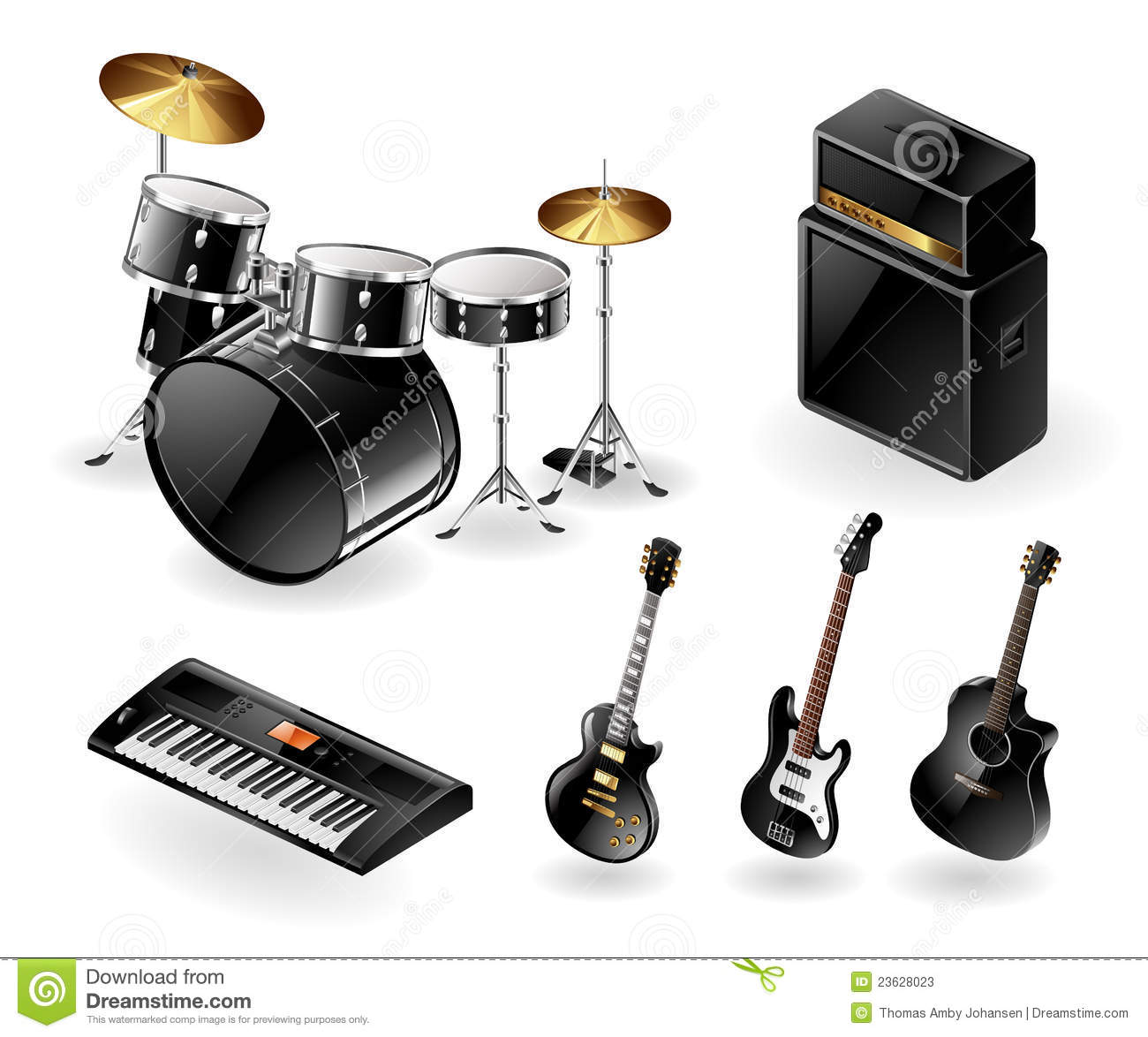 Modern Musical Instruments: Modern Musical Instruments Stock Photos